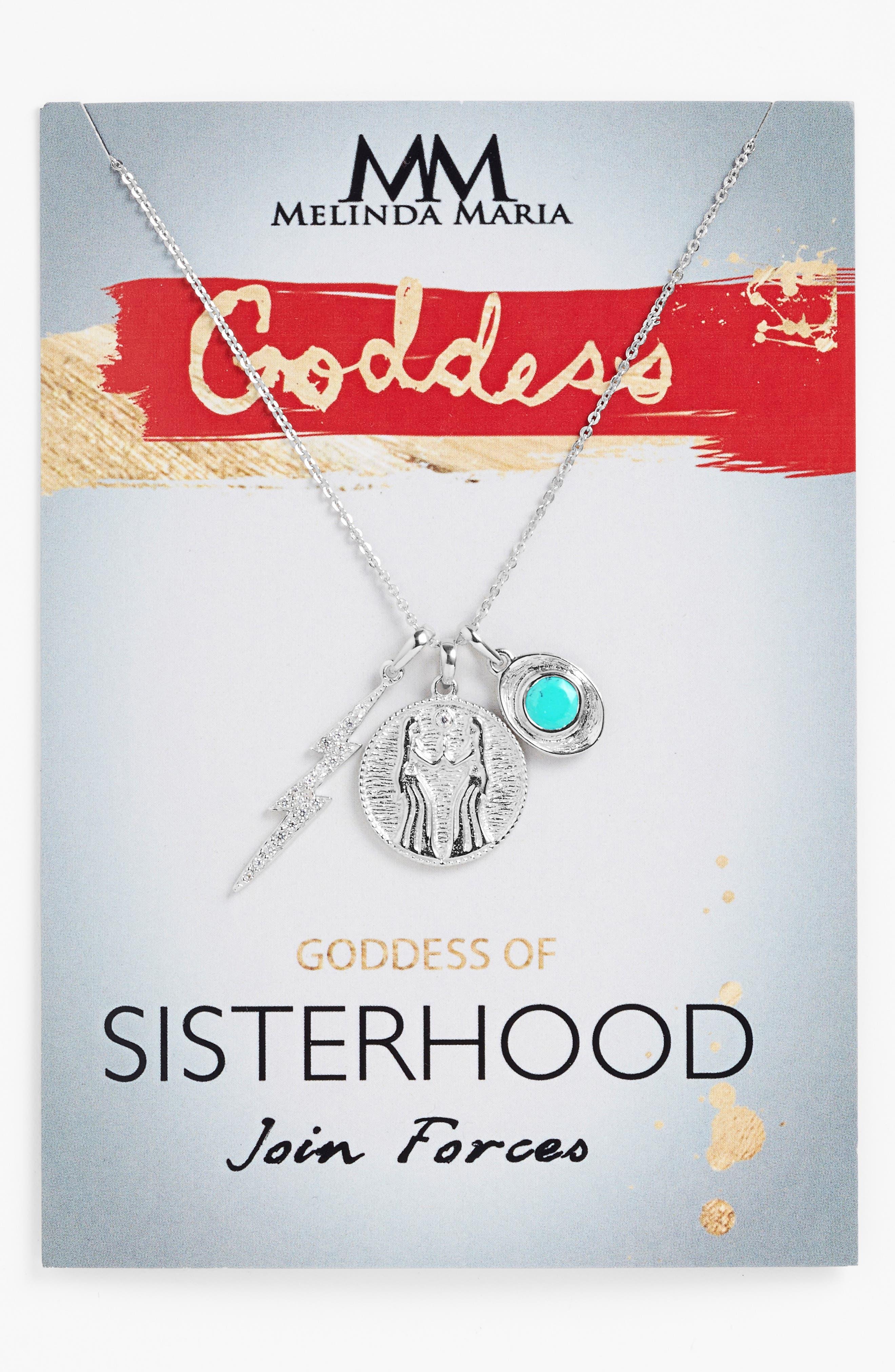 Goddess of Sisterhood Pendant Necklace,                             Alternate thumbnail 3, color,                             040