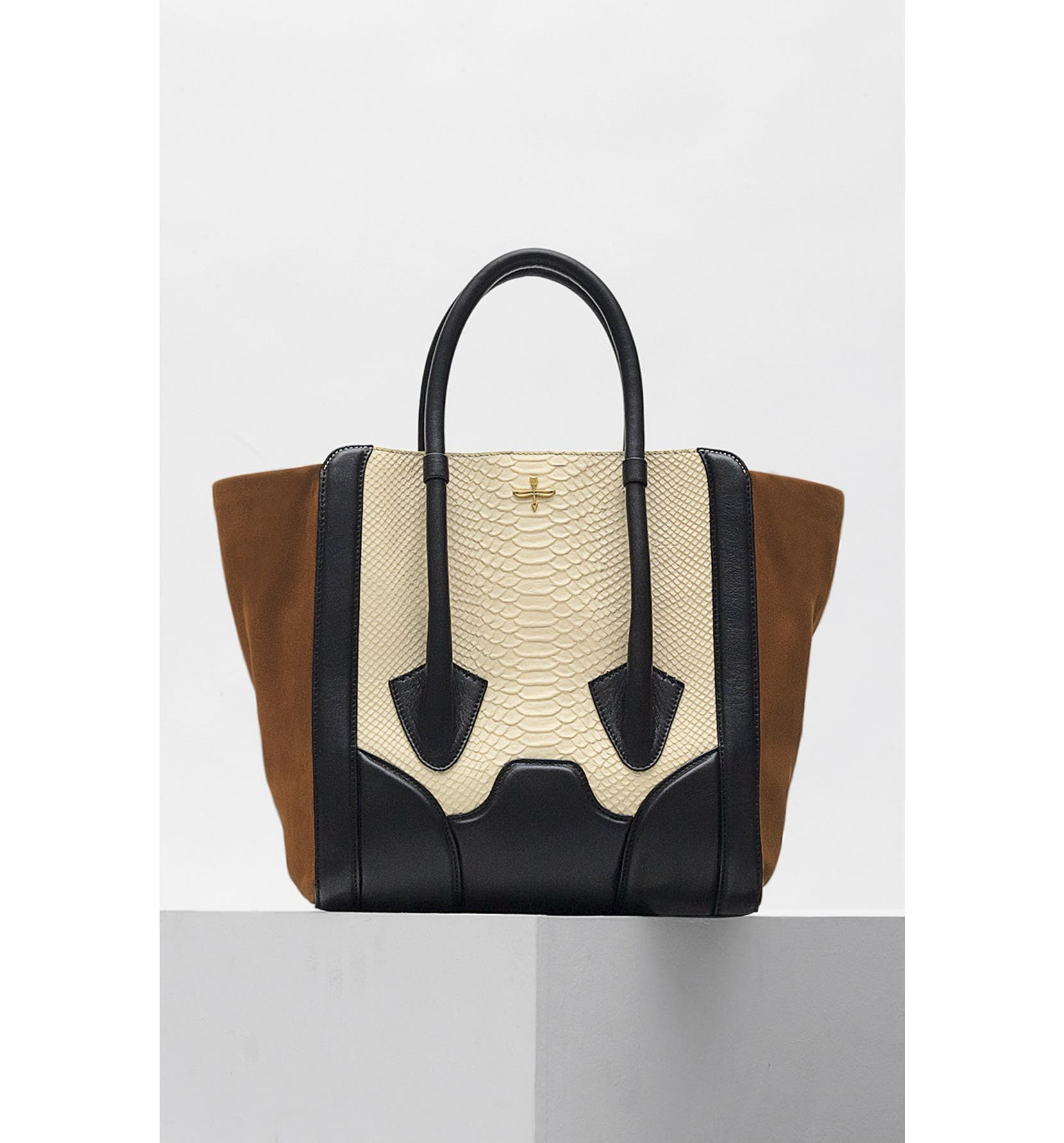 Pour La Victoire Butler Large Snake Embossed Leather Suede Tote Nordstrom