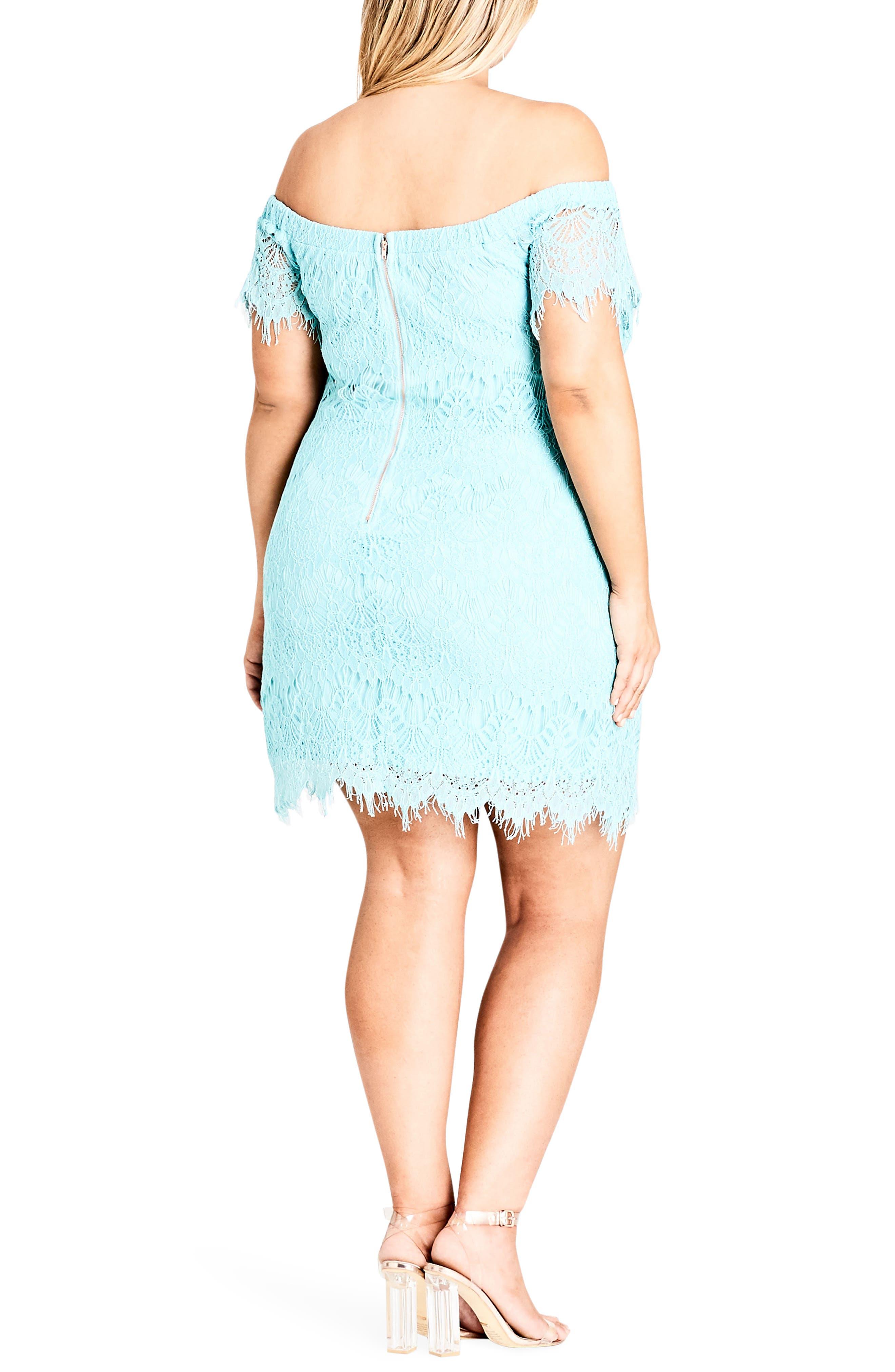 Off the Shoulder Lace Dress,                             Alternate thumbnail 2, color,                             MINT