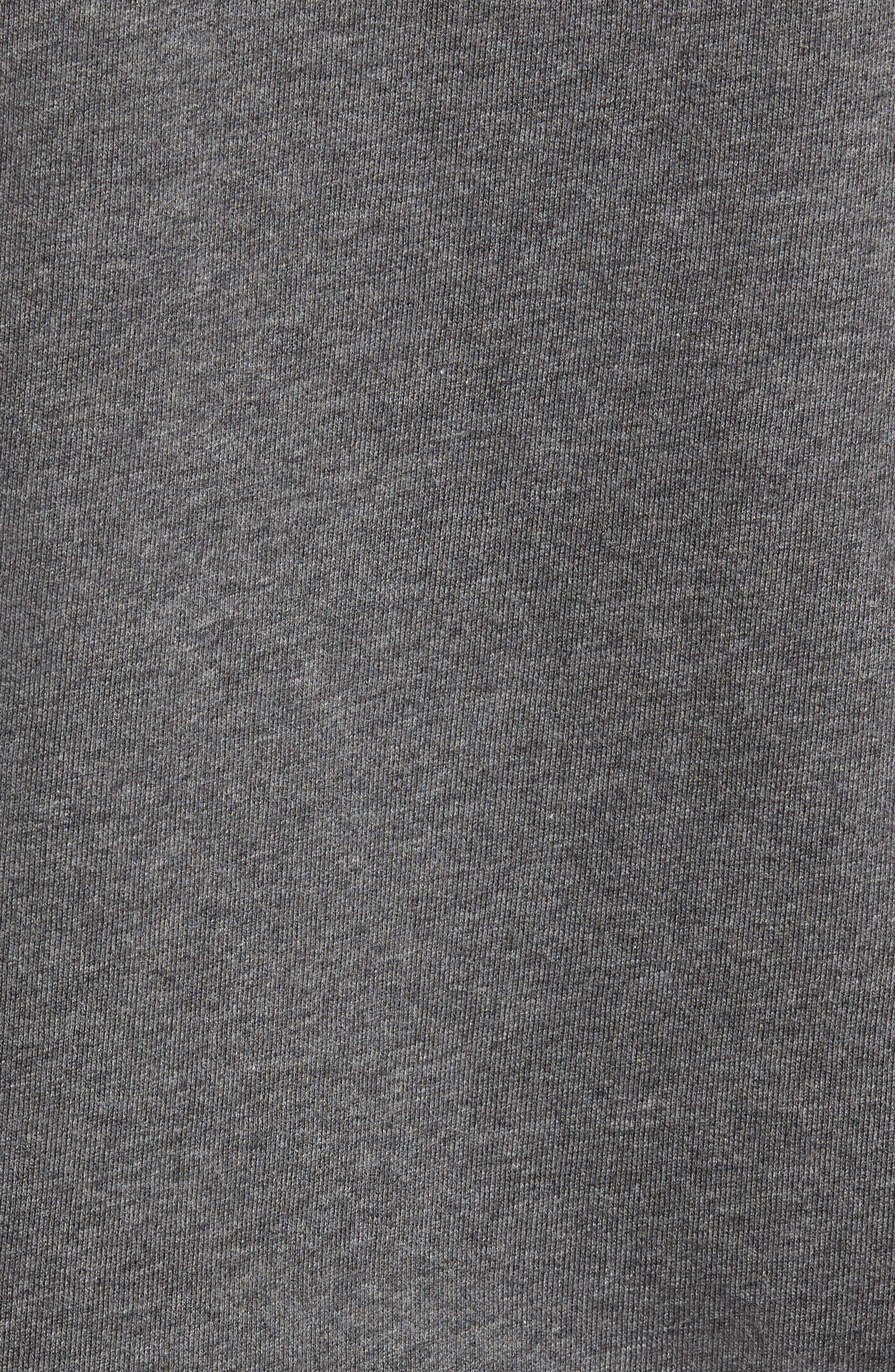 Quarter Zip Fleece Pullover,                             Alternate thumbnail 5, color,                             PEBBLE