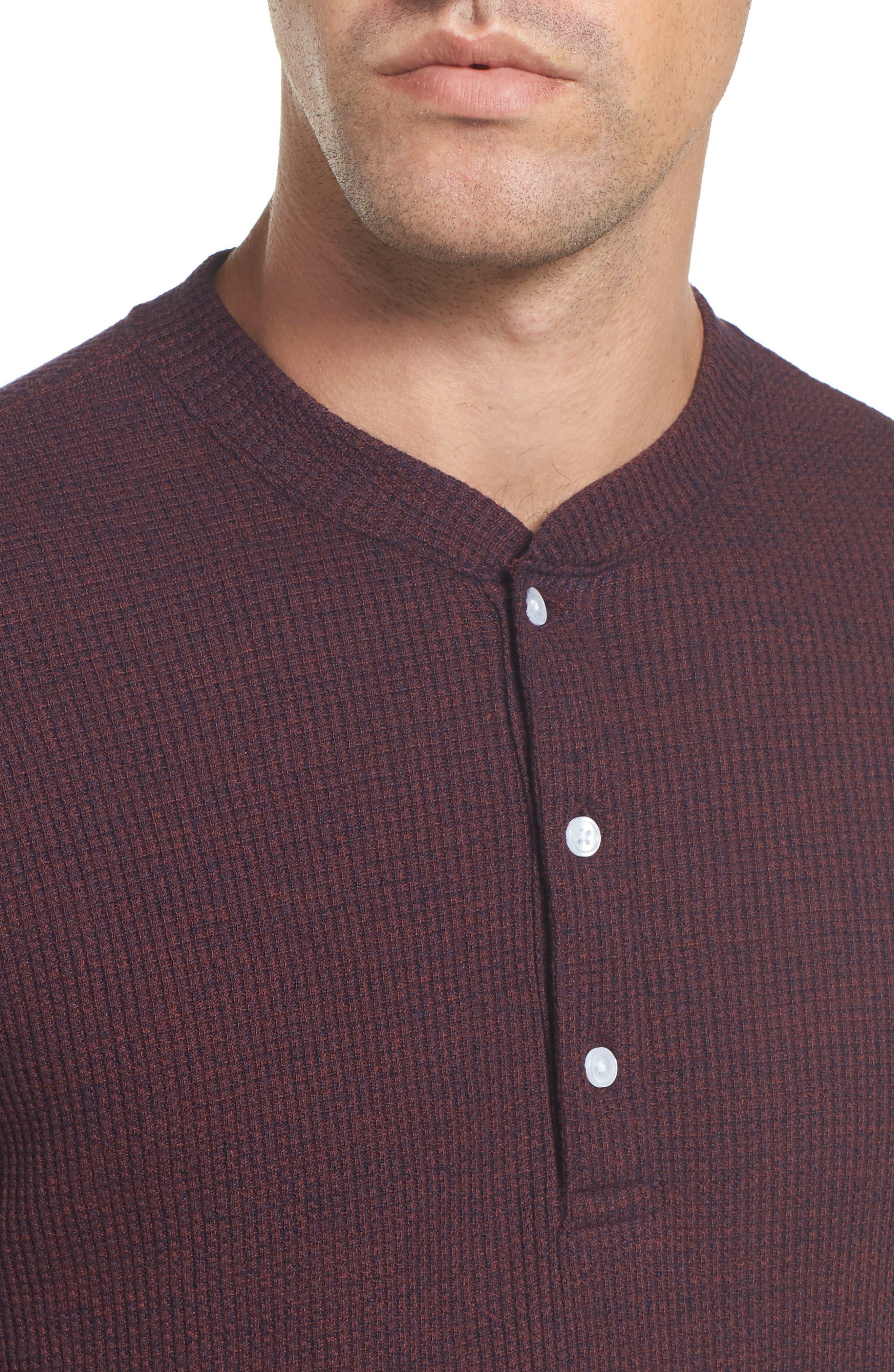 Slim Fit Long Sleeve Henley Shirt,                             Alternate thumbnail 12, color,