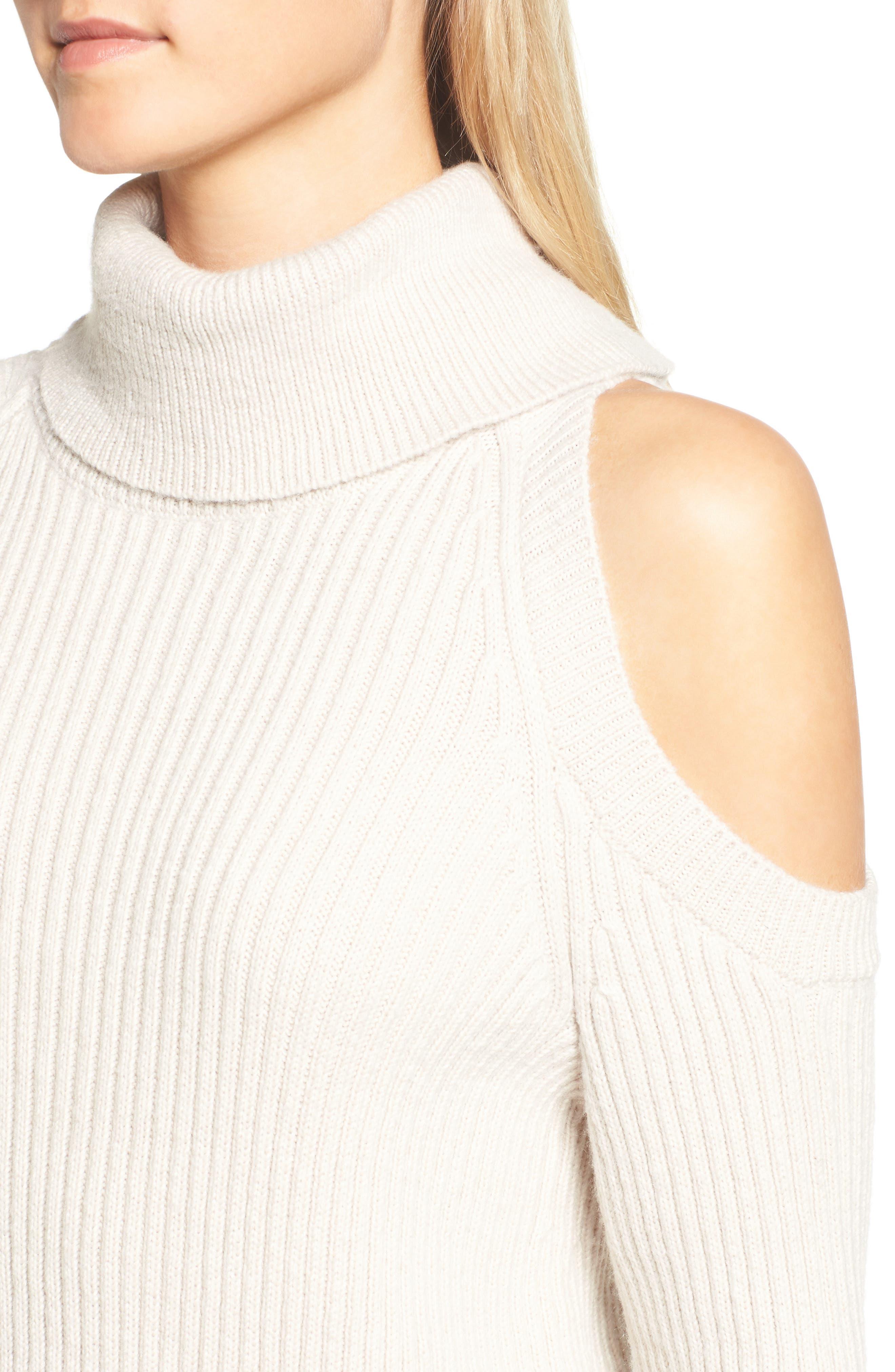 Rodell Cold Shoulder Sweater,                             Alternate thumbnail 8, color,