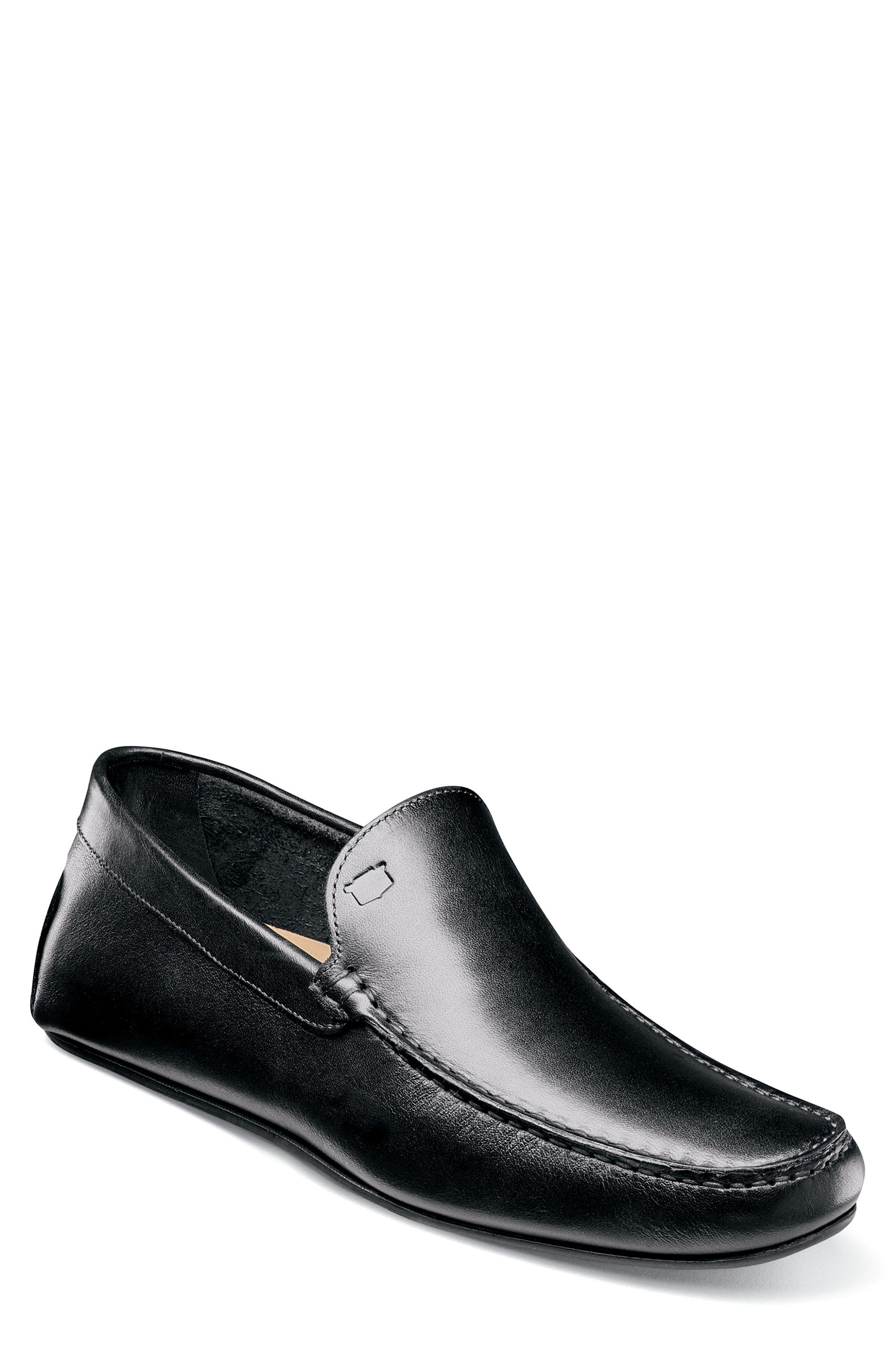 Navono Driving Moccasin,                             Main thumbnail 1, color,                             BLACK LEATHER