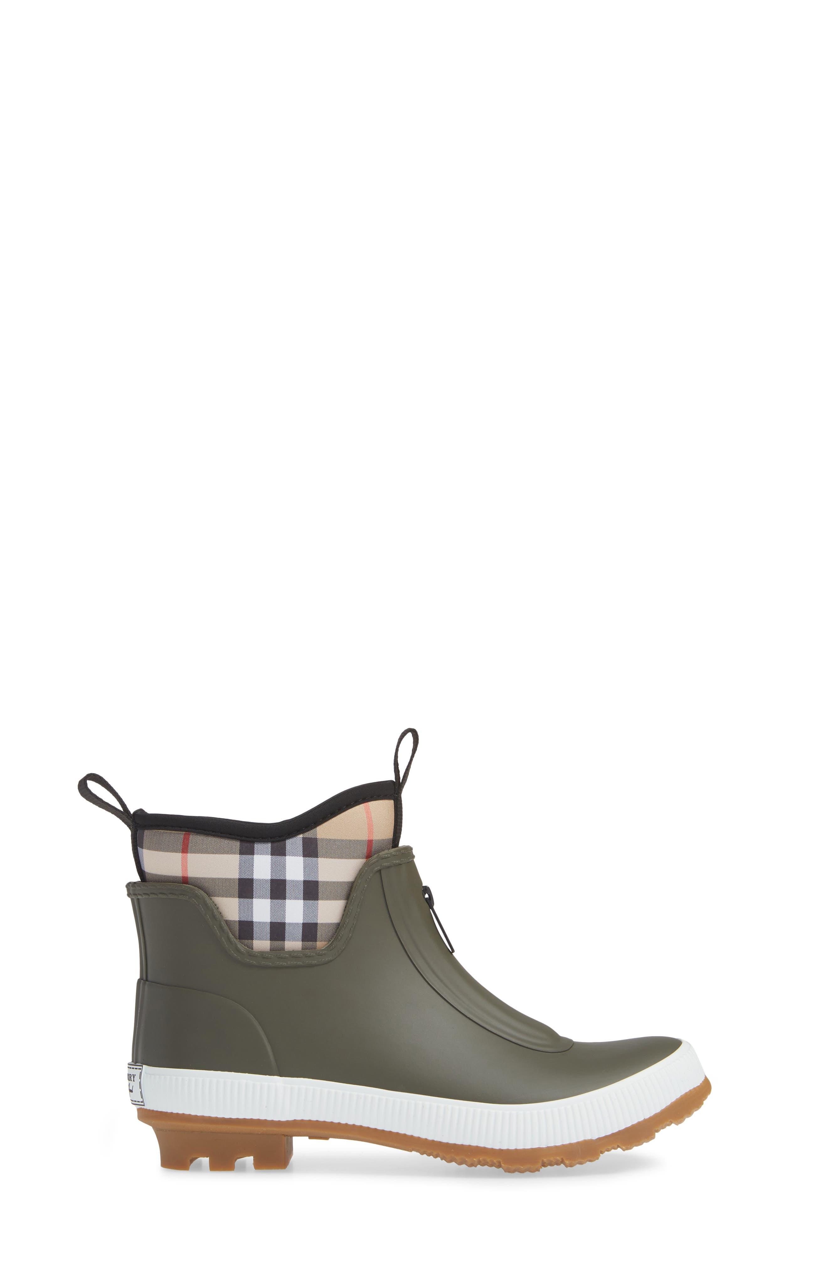 Flinton Rain Boot,                             Alternate thumbnail 3, color,                             MILITARY GREEN