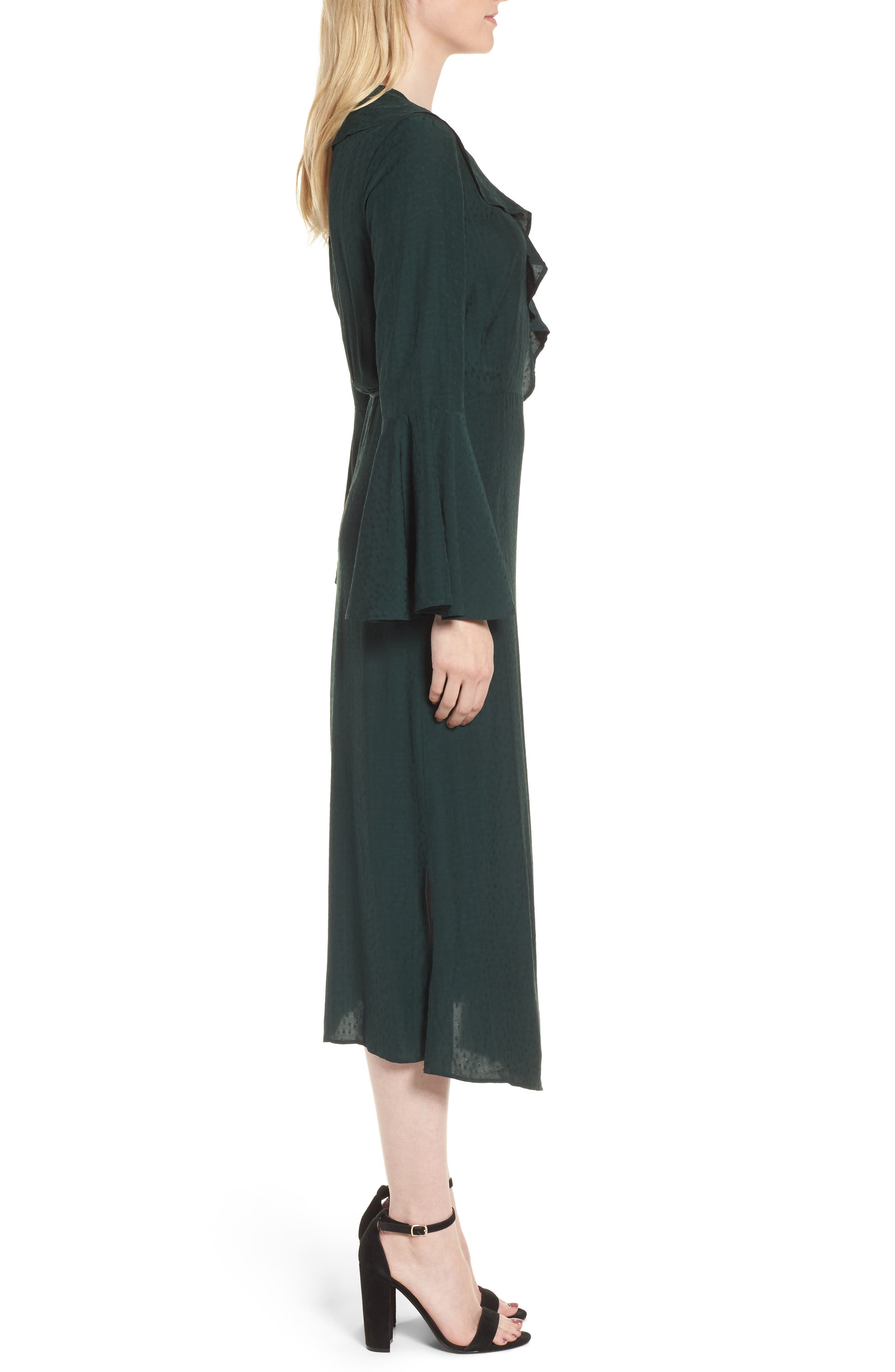 Midi Wrap Dress,                             Alternate thumbnail 3, color,                             301