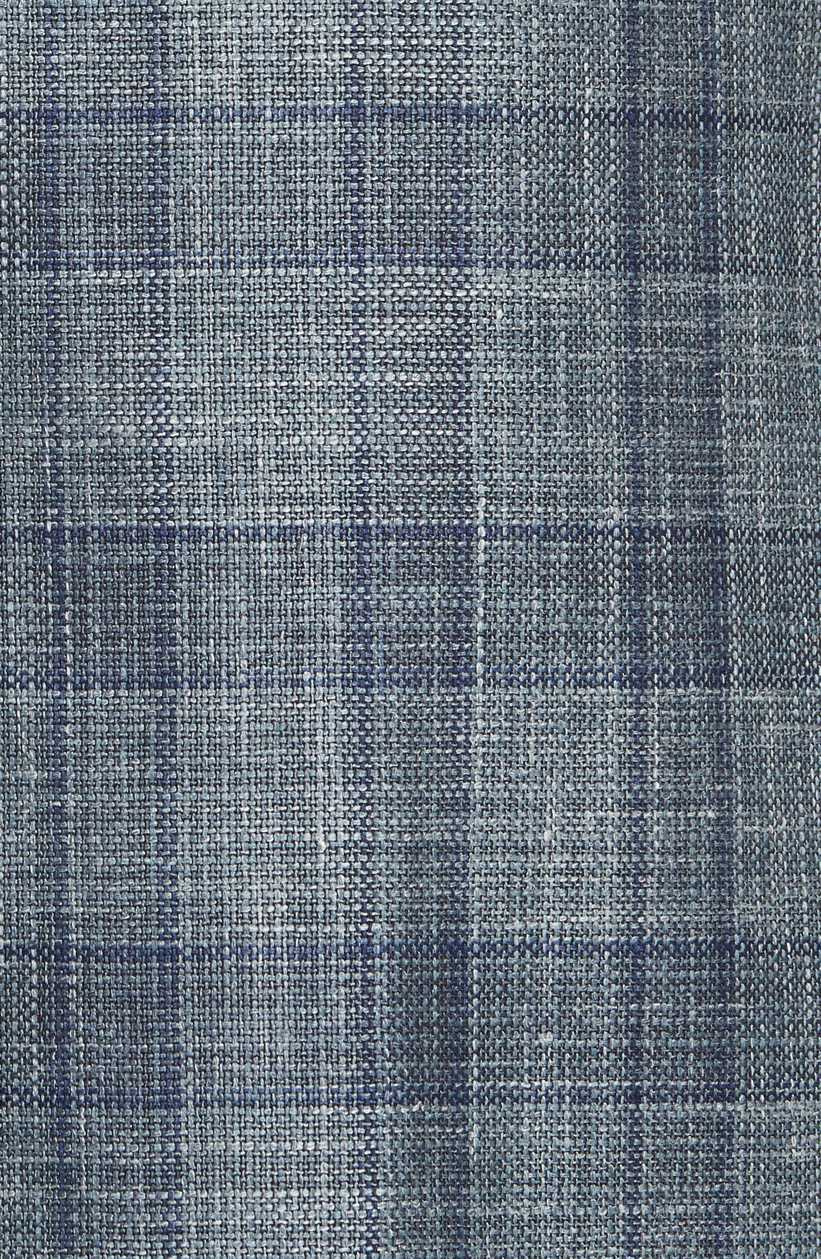 Classic Fit Wool Blend Check Sport Coat,                             Alternate thumbnail 6, color,                             020