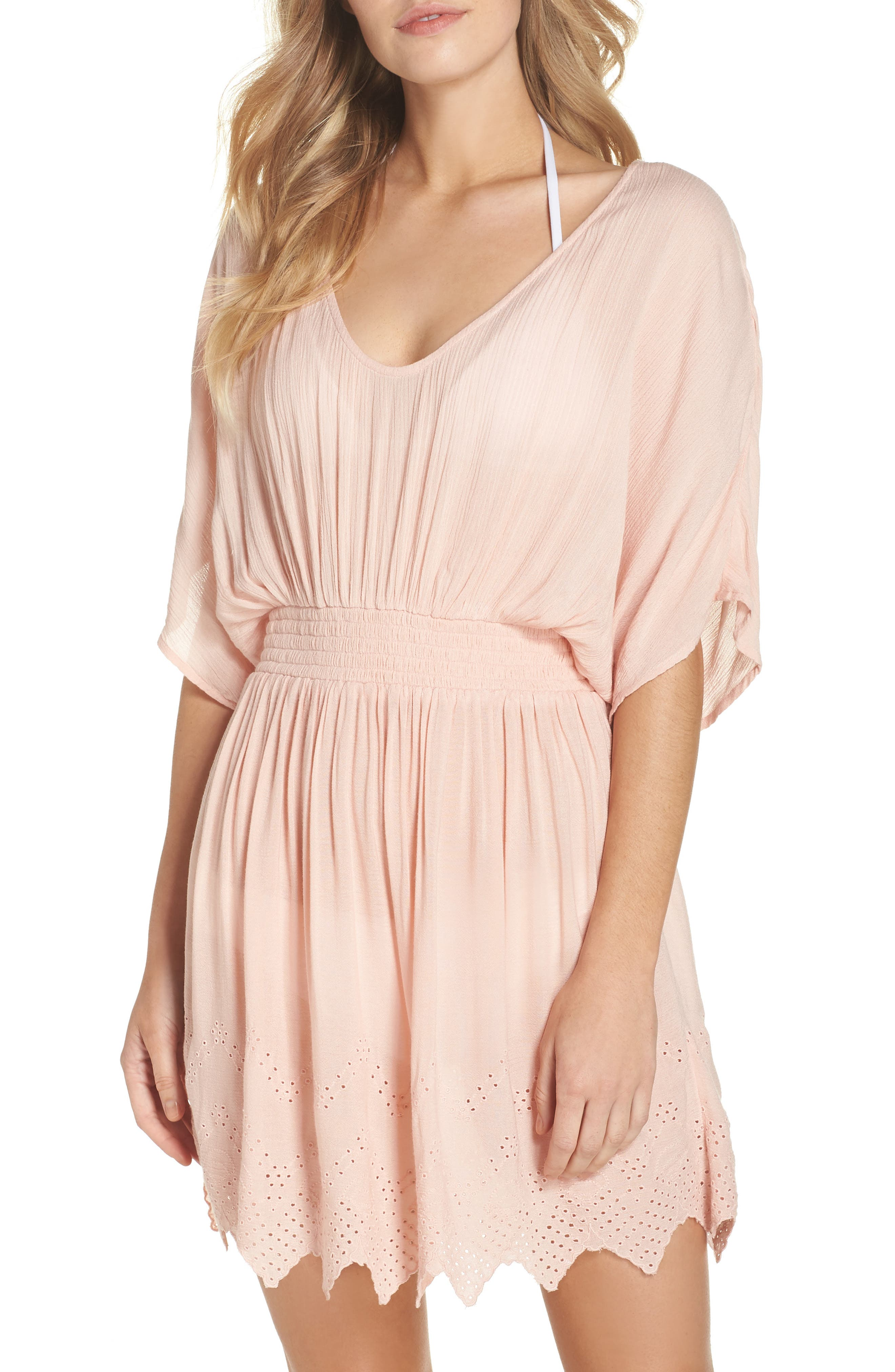 Goddess Cover-Up Dress,                         Main,                         color, PINK ROSECLOUD