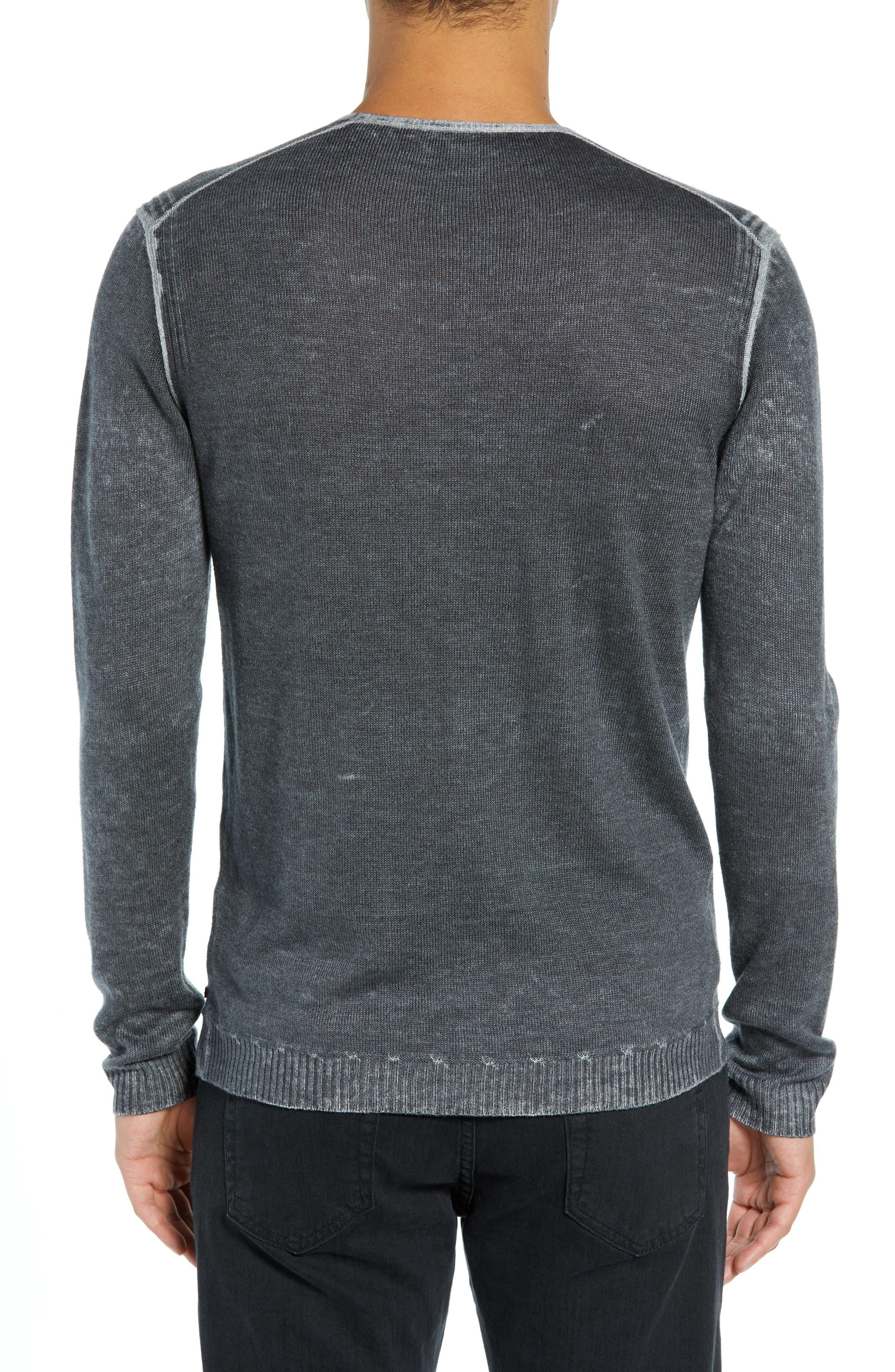 V-Neck Sweater,                             Alternate thumbnail 2, color,                             CHARCOAL