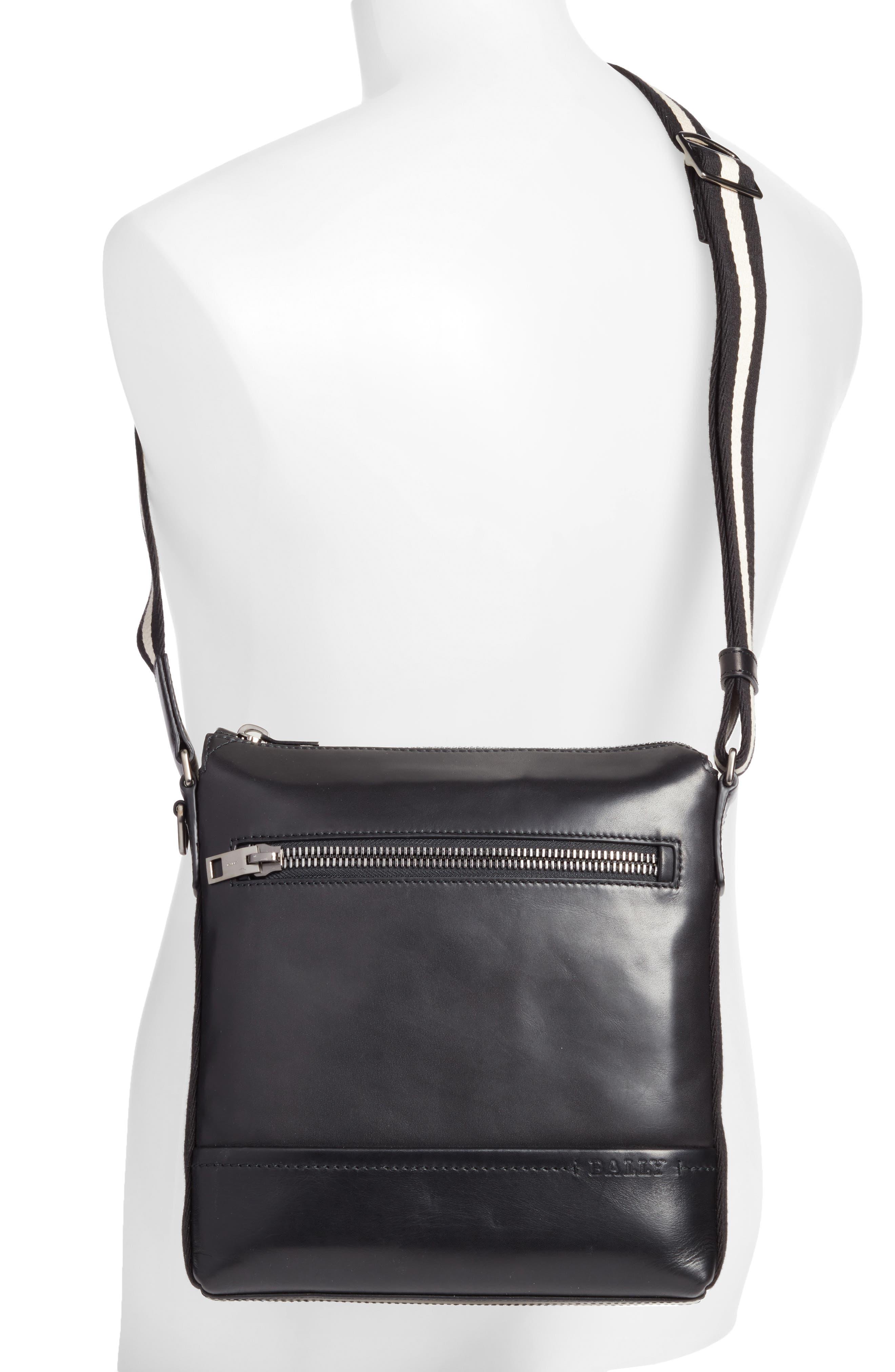 BALLY,                             Trezzini Leather Crossbody Bag,                             Alternate thumbnail 2, color,                             001