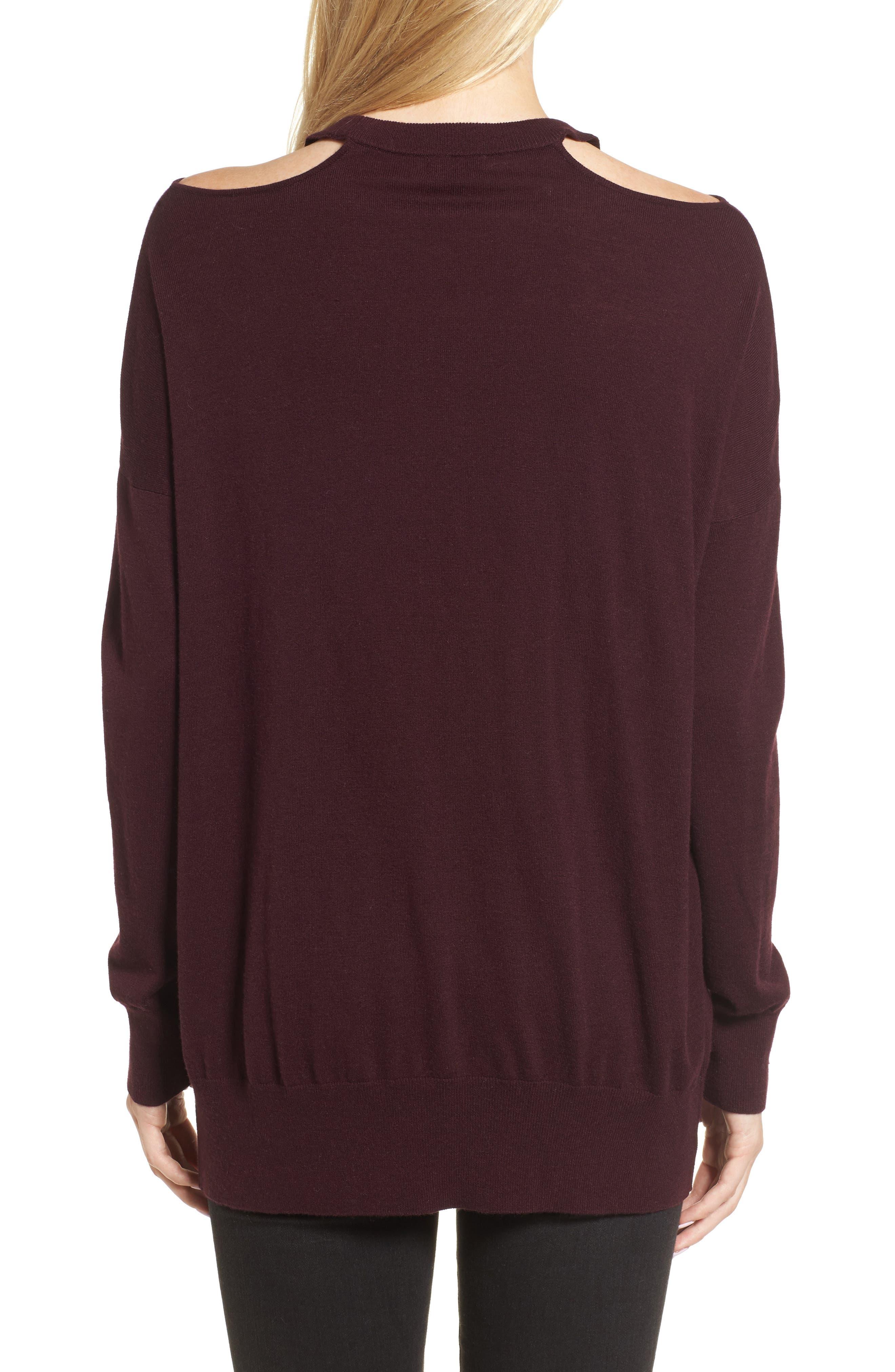 Canarise Cutout Sweater,                             Alternate thumbnail 4, color,