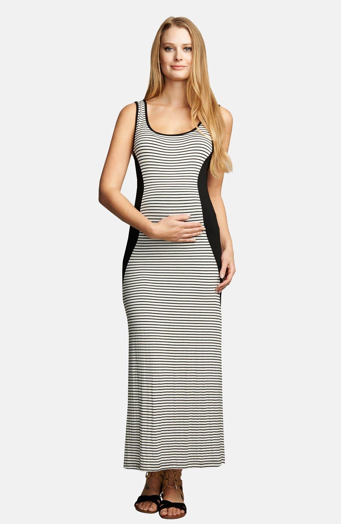 Scoop Neck Maxi Lightweight Maternity Dress,                         Main,                         color, 001