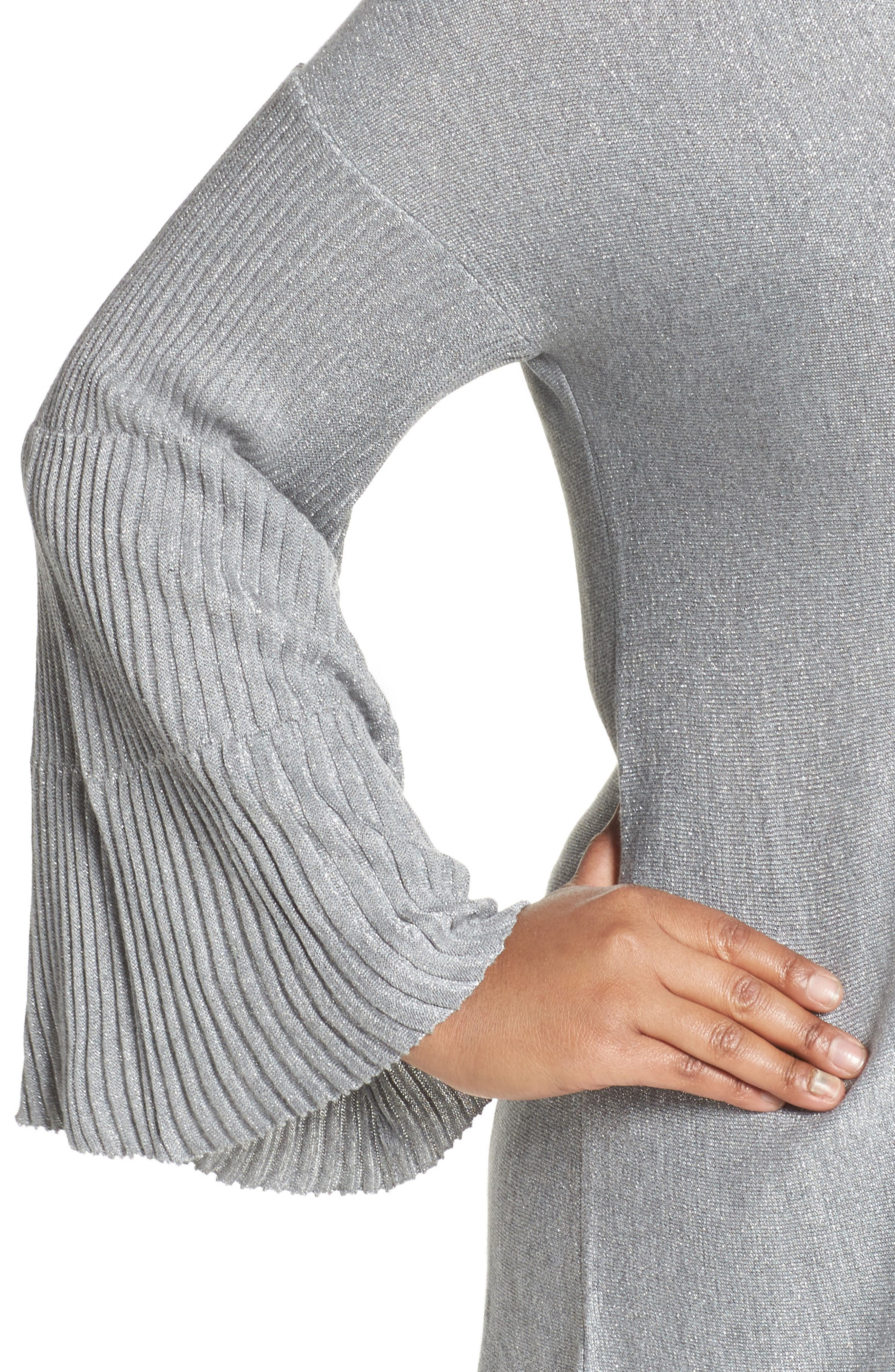 Sparkly Bell Sleeve Sweater,                             Alternate thumbnail 4, color,                             028