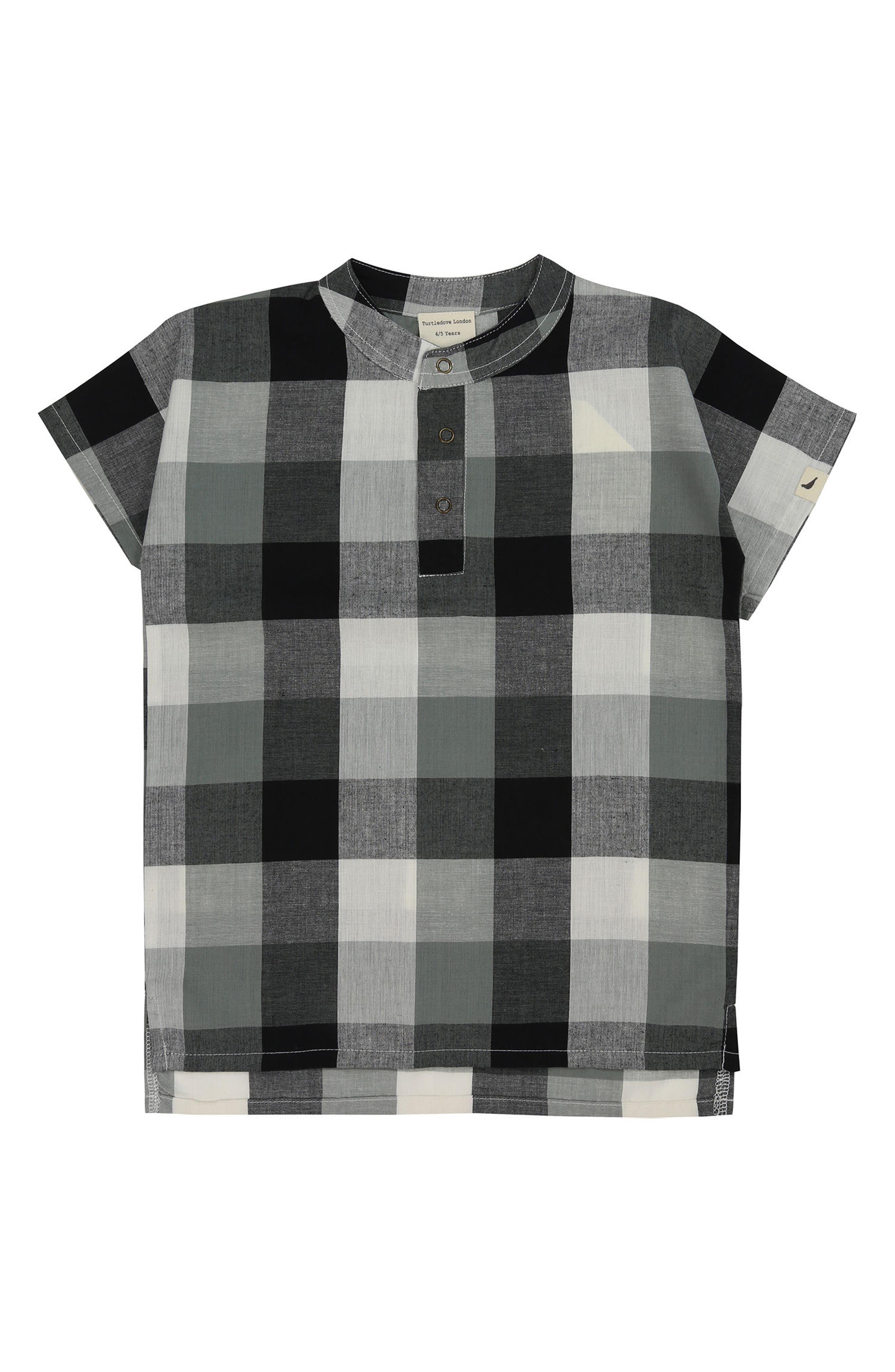 Check Organic Cotton Shirt,                             Main thumbnail 1, color,                             020