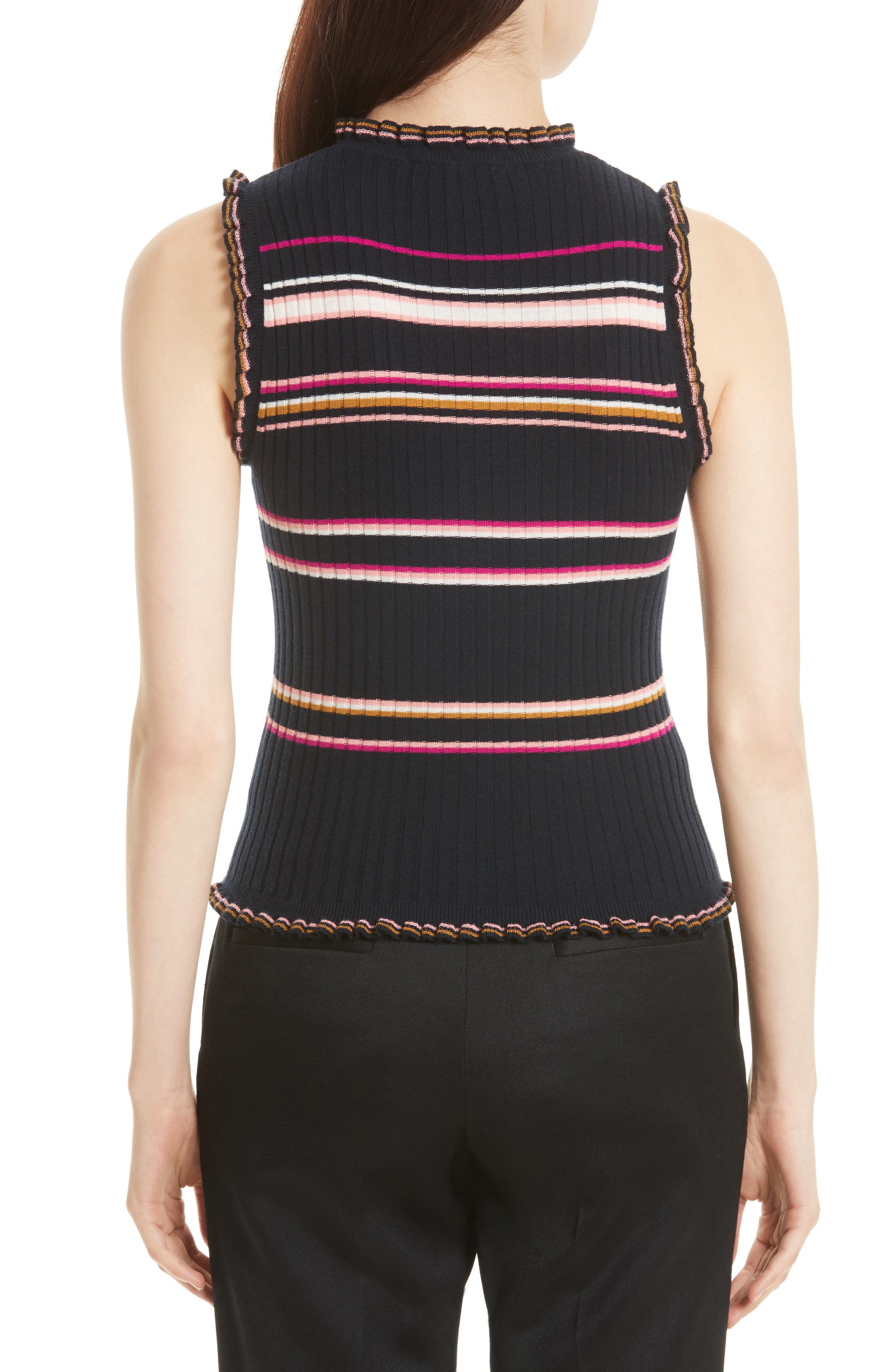 Stripe Rib Knit Tank,                             Alternate thumbnail 2, color,                             410