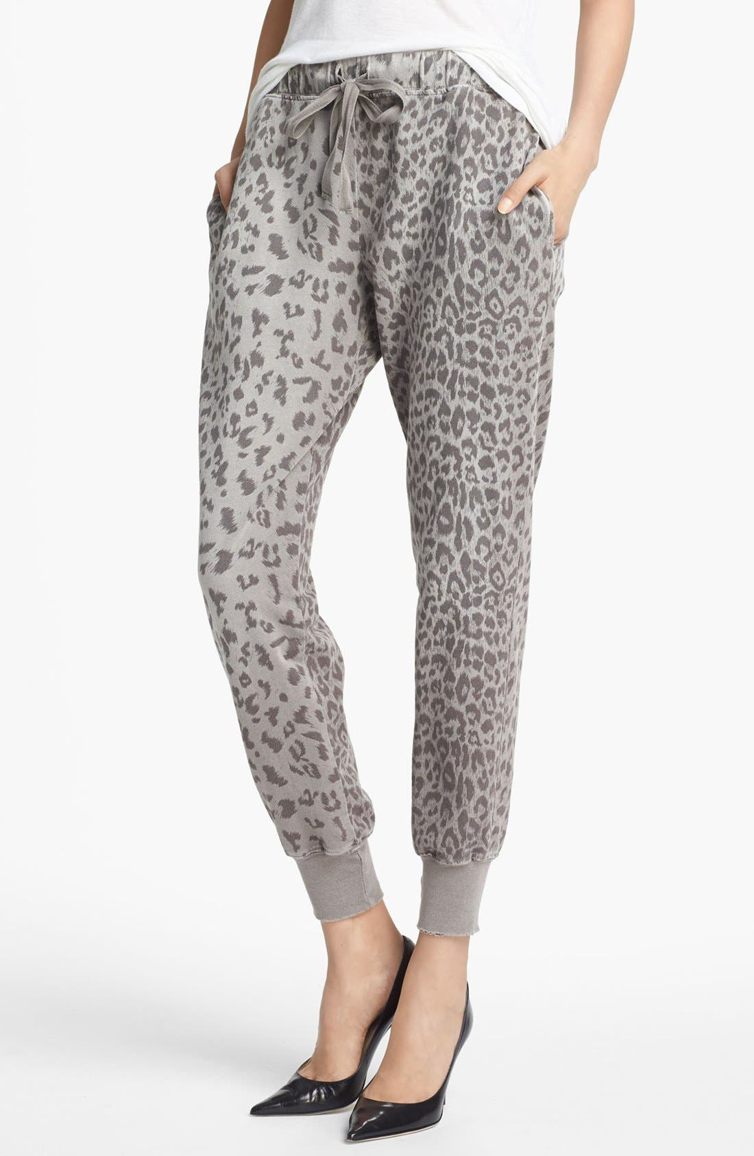 CURRENT/ELLIOTT Animal Print Sweatpants, Main, color, 093