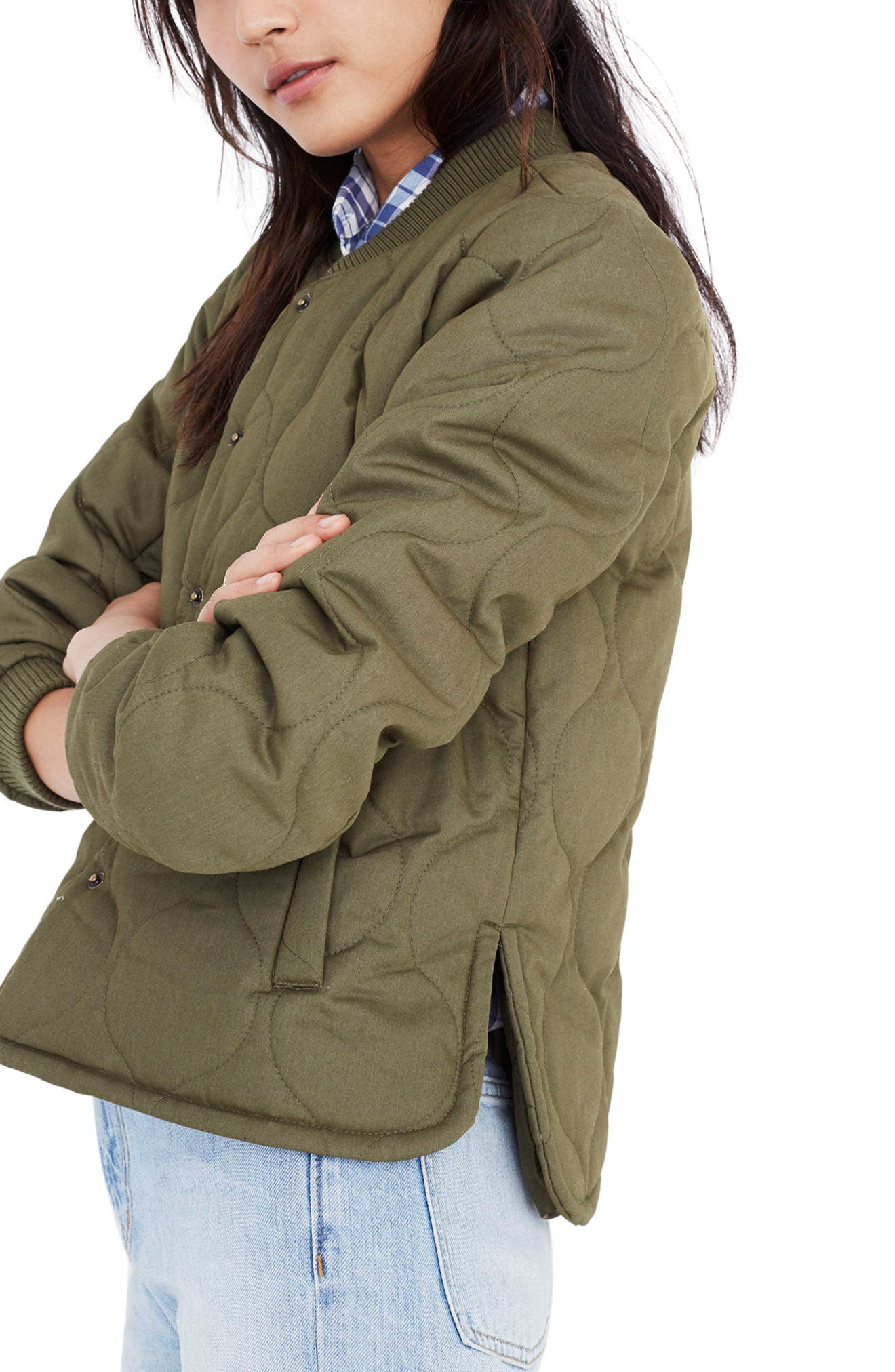 Quilted Military Jacket,                             Alternate thumbnail 3, color,                             300