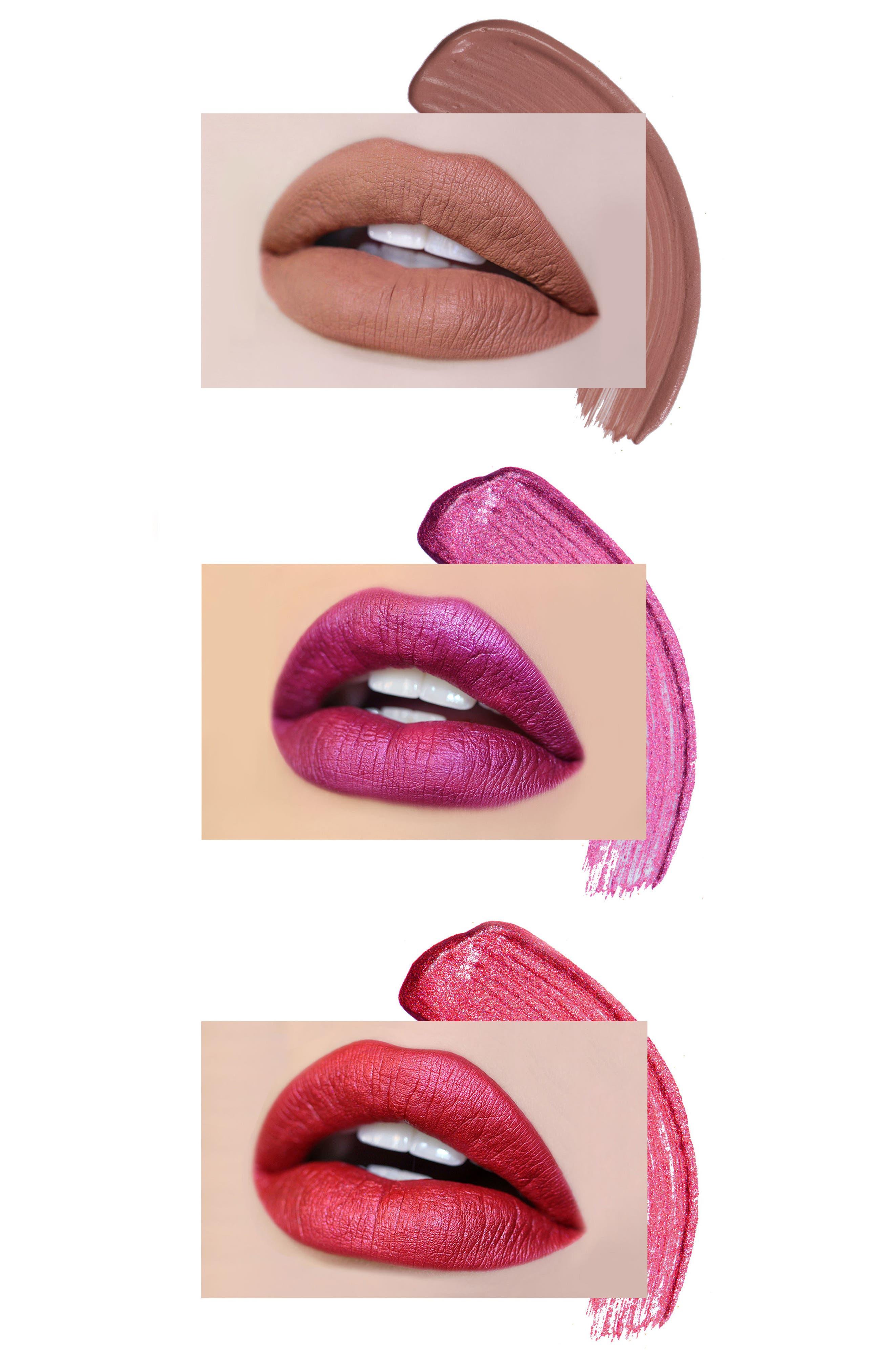 Best of Deeps Mini Long-Wear Lip Crème Liquid Lipstick Collection,                             Alternate thumbnail 4, color,                             000
