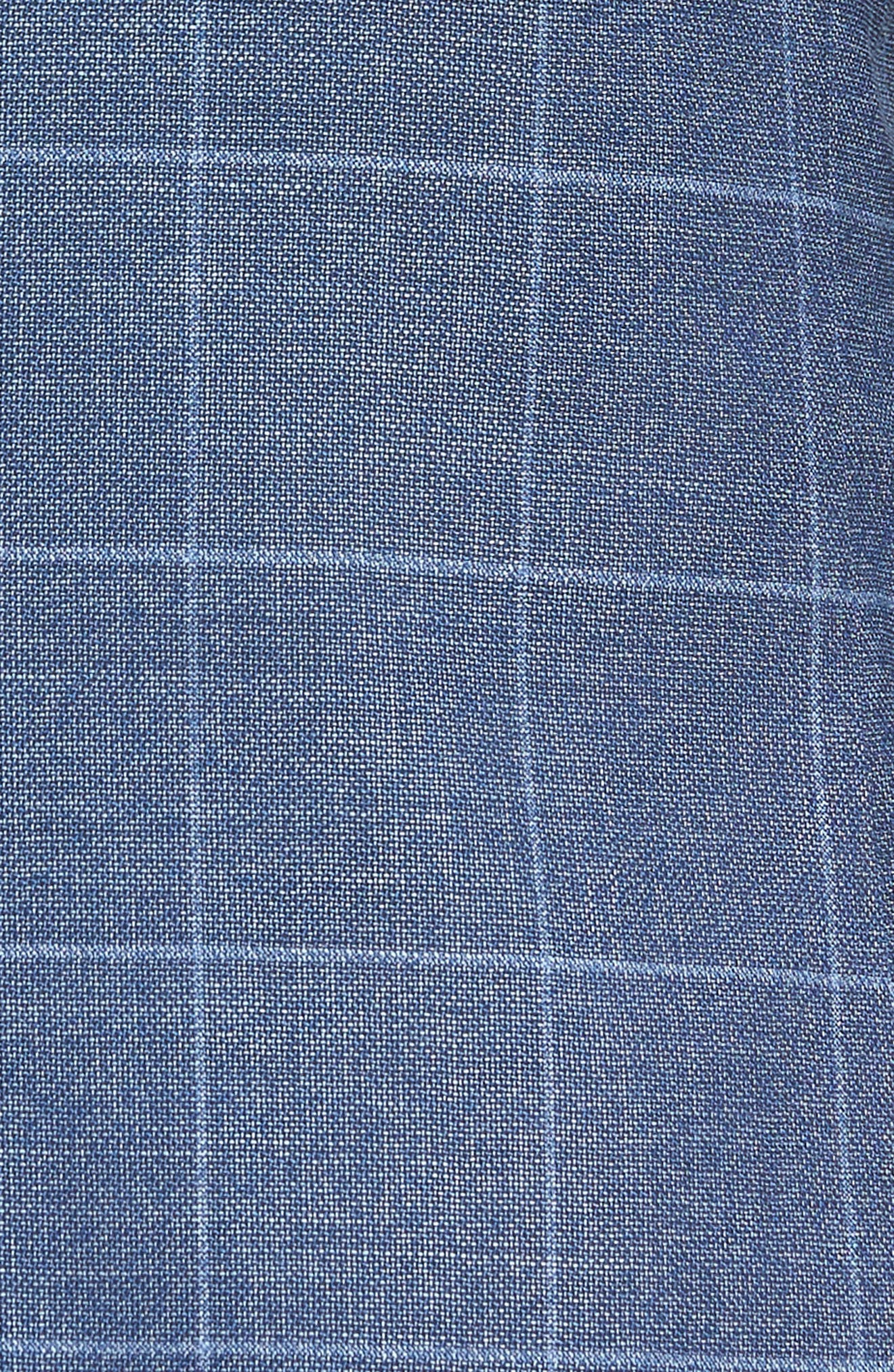 Huge/Genius Trim Fit Windowpane Wool Suit,                             Alternate thumbnail 7, color,                             400