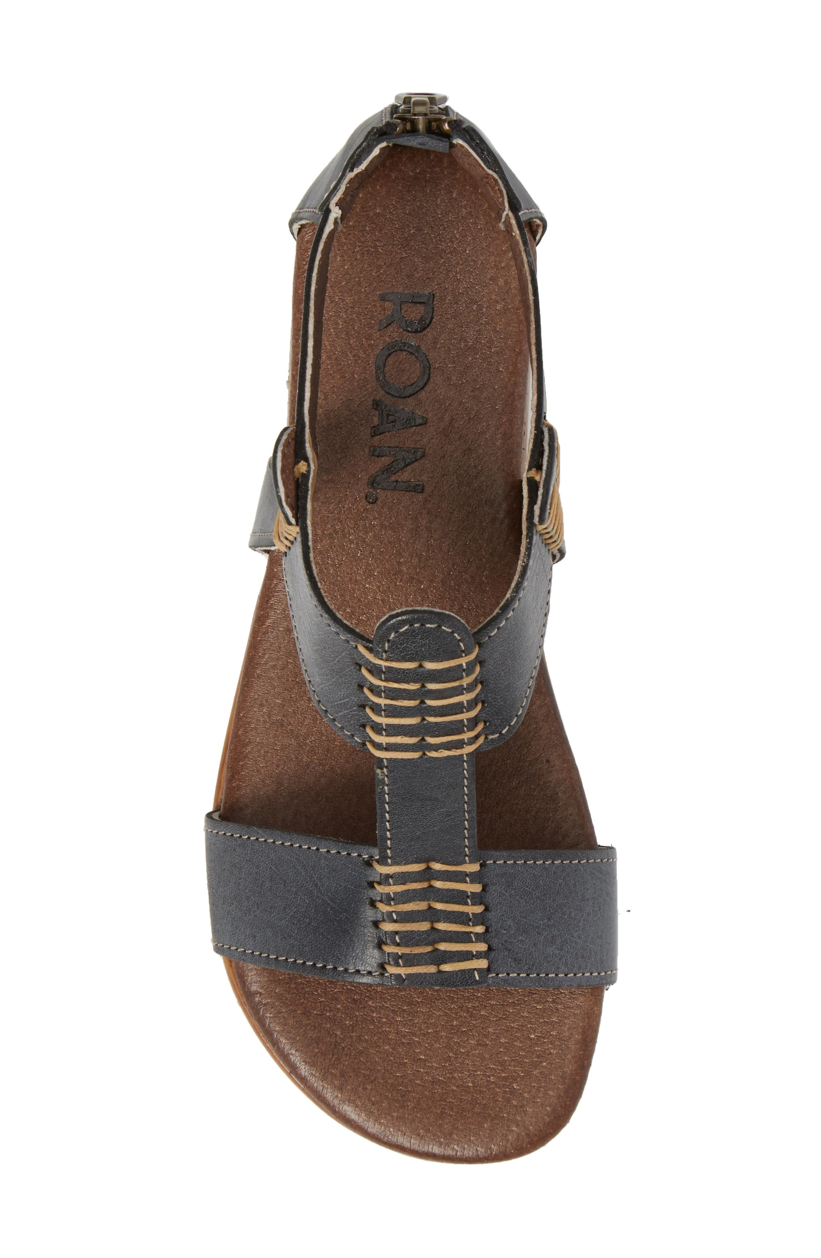 Jocelyn T-Strap Flat Sandal,                             Alternate thumbnail 5, color,                             SYDNEY BLACK