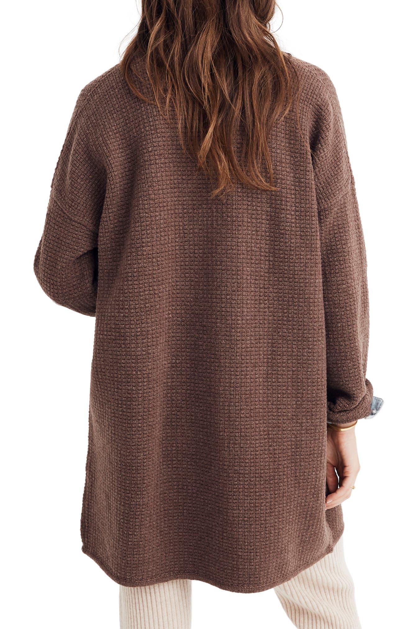 Chilton Sweater Coat,                             Alternate thumbnail 2, color,                             HEATHER COCOA