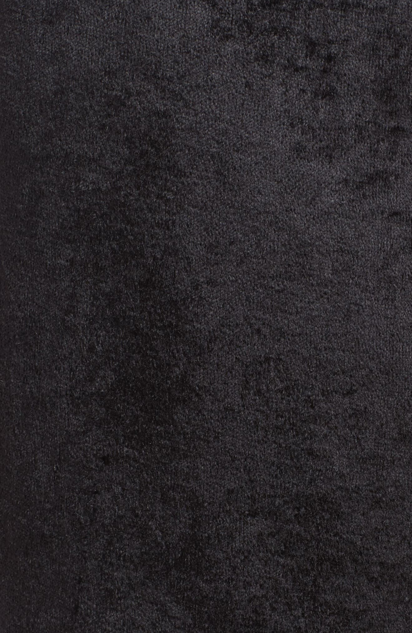 Galaxy Velour Lounge Track Pants,                             Alternate thumbnail 5, color,                             001