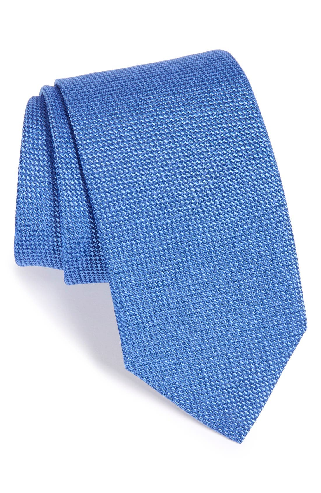 Solid Silk Tie,                             Main thumbnail 1, color,                             NAVY
