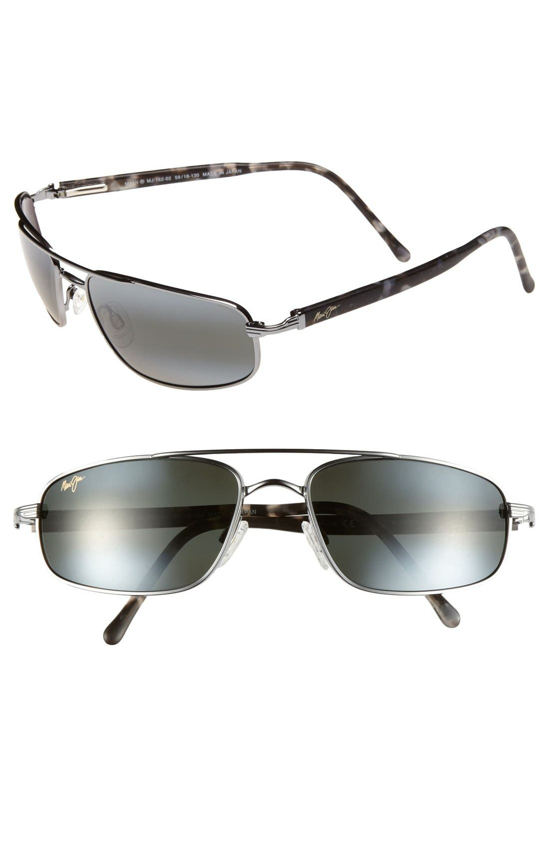 'Kahuna -PolarizedPlus<sup>®</sup>2' 59mm Sunglasses,                             Main thumbnail 1, color,                             GUN