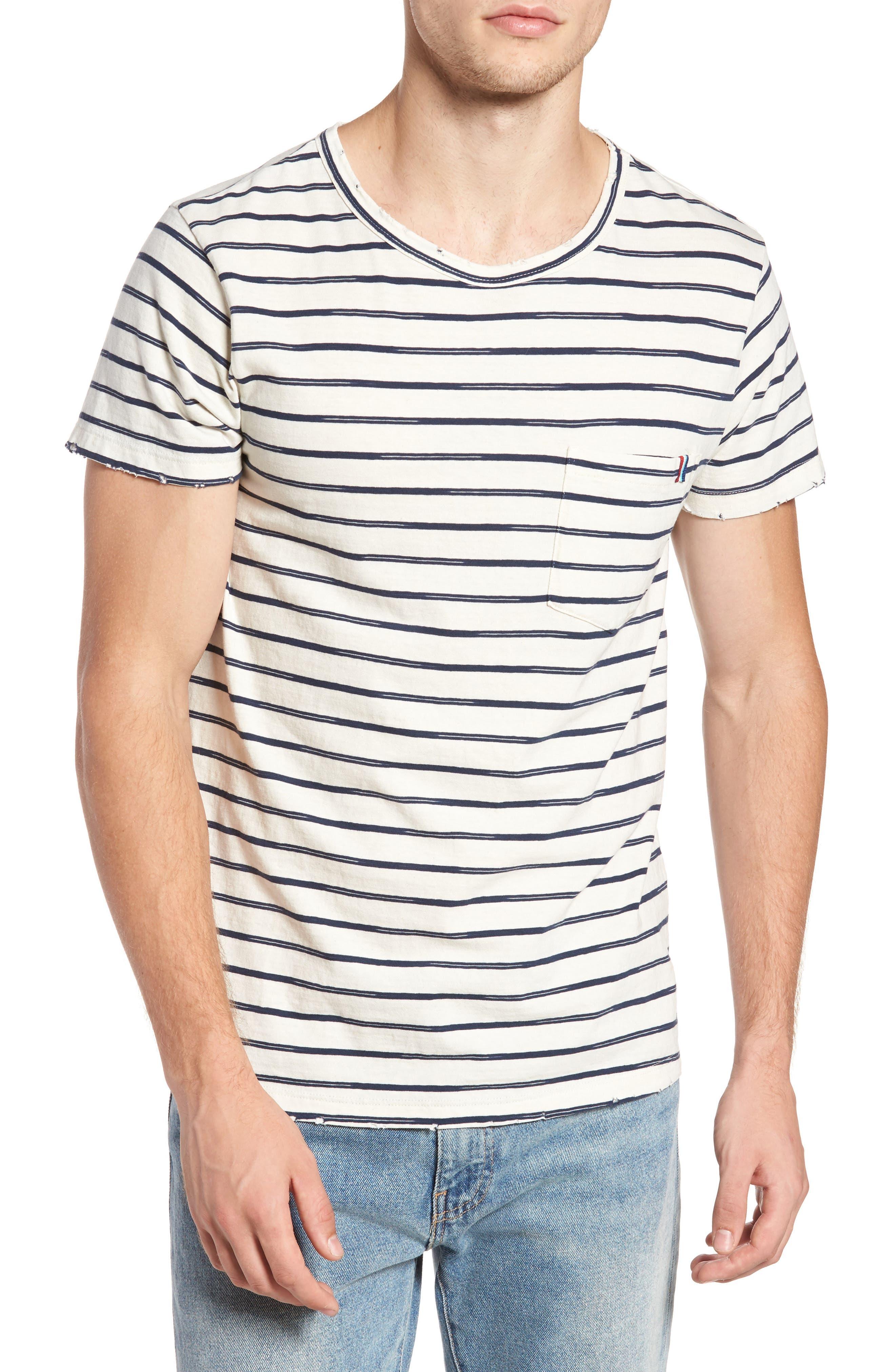 Vintage Stripe Pocket T-Shirt,                         Main,                         color, 101