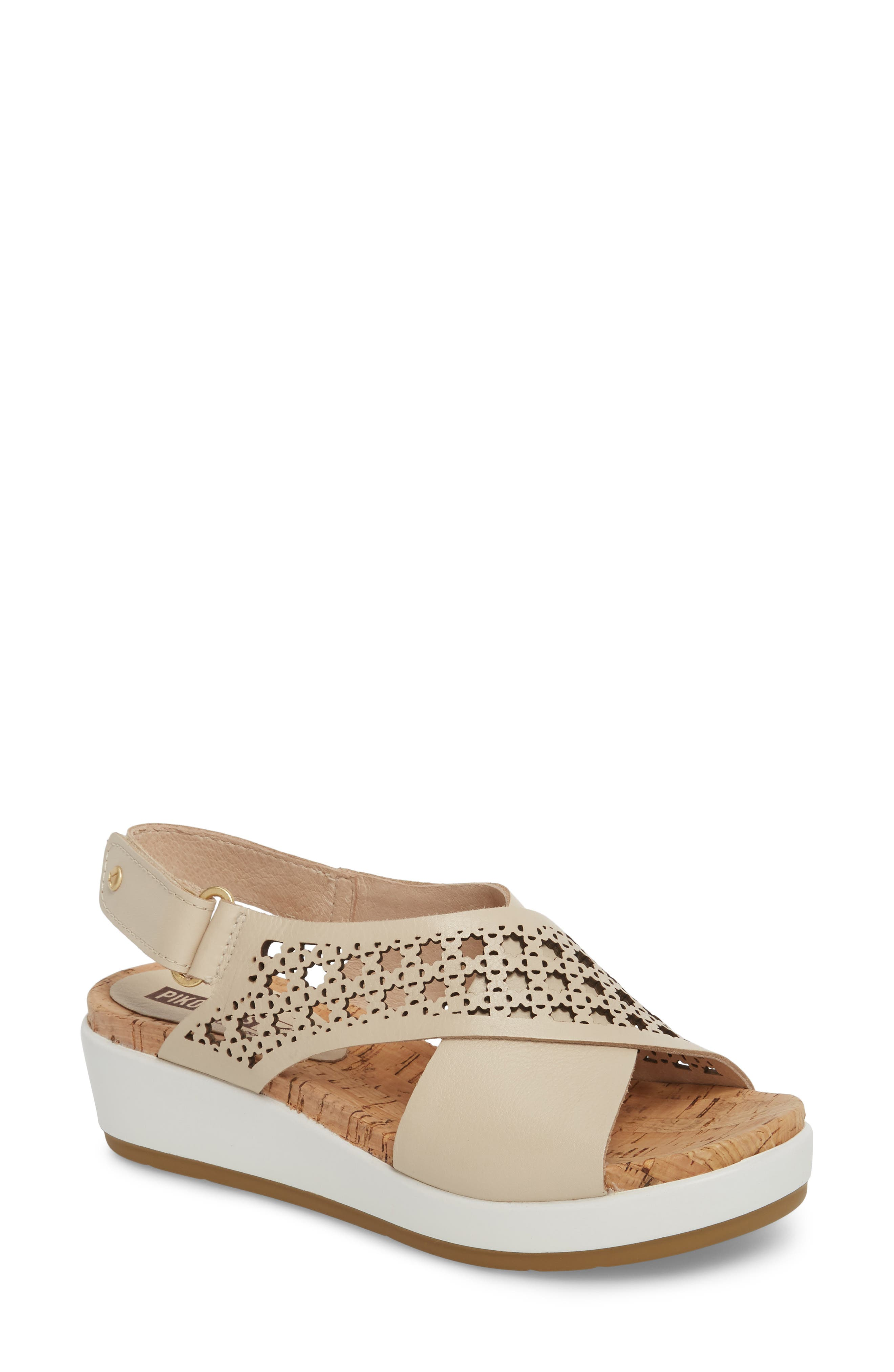 Mykonos Sandal,                         Main,                         color, MARFIL LEATHER