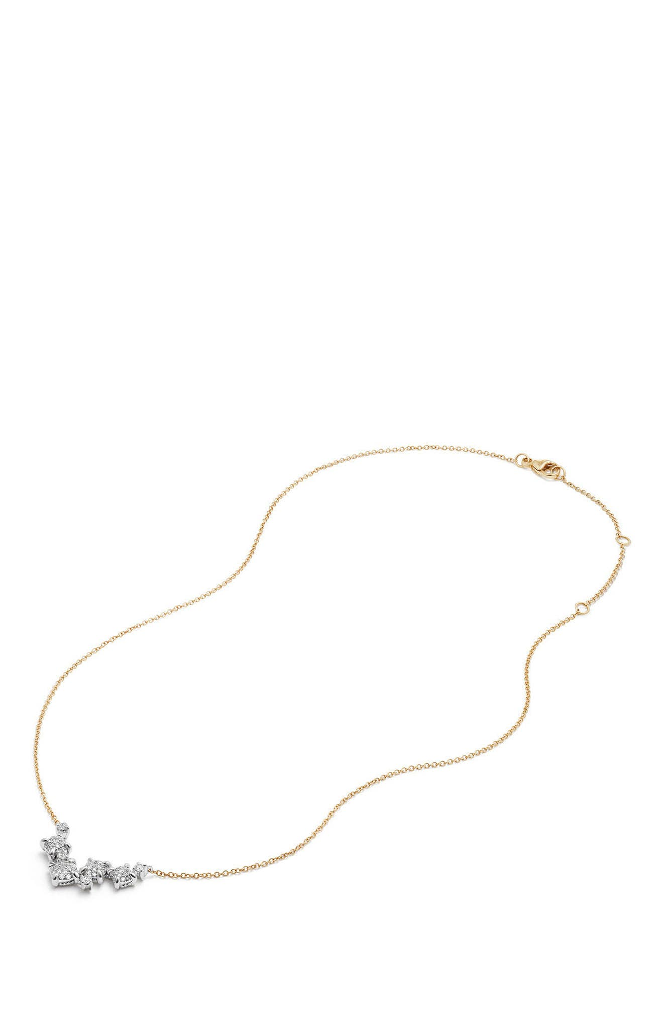 Precious Châtelaine Necklace with Diamonds in 18K Gold,                             Alternate thumbnail 4, color,                             YELLOW GOLD/ DIAMOND