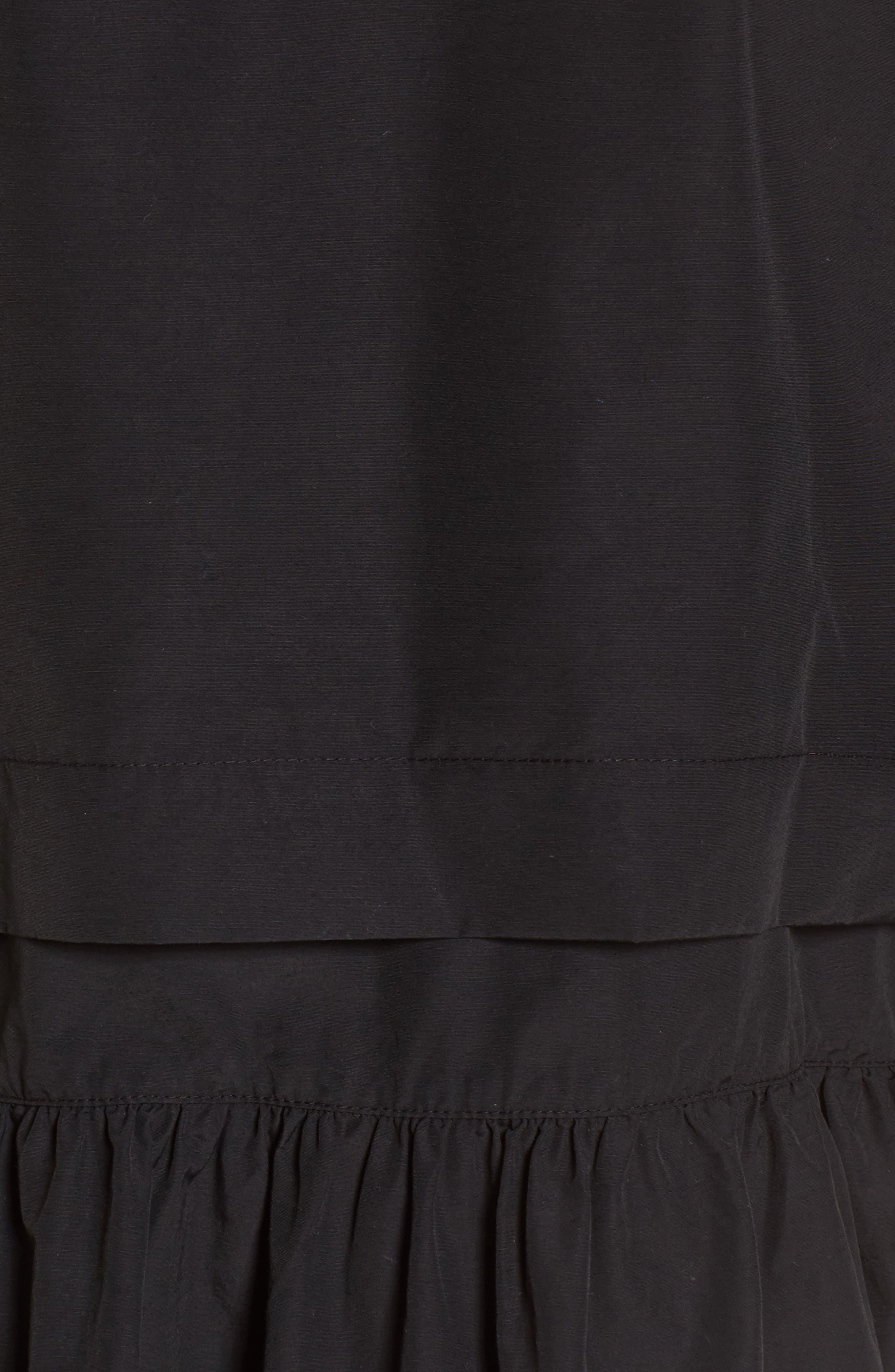 Peplum Cotton Blend Utility Jacket,                             Alternate thumbnail 7, color,                             001