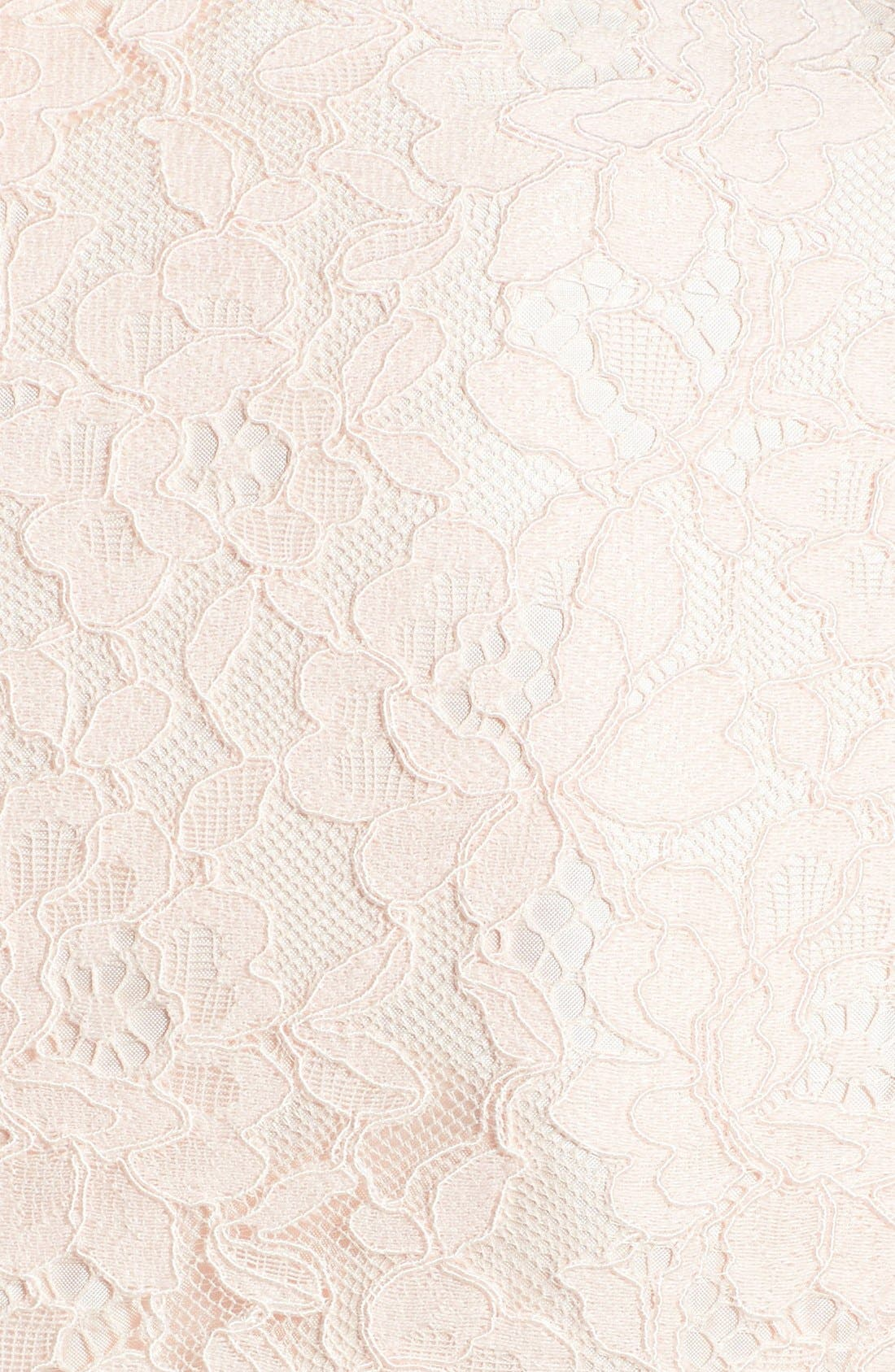 'Valeria' Lace Sheath Dress,                             Alternate thumbnail 3, color,                             650