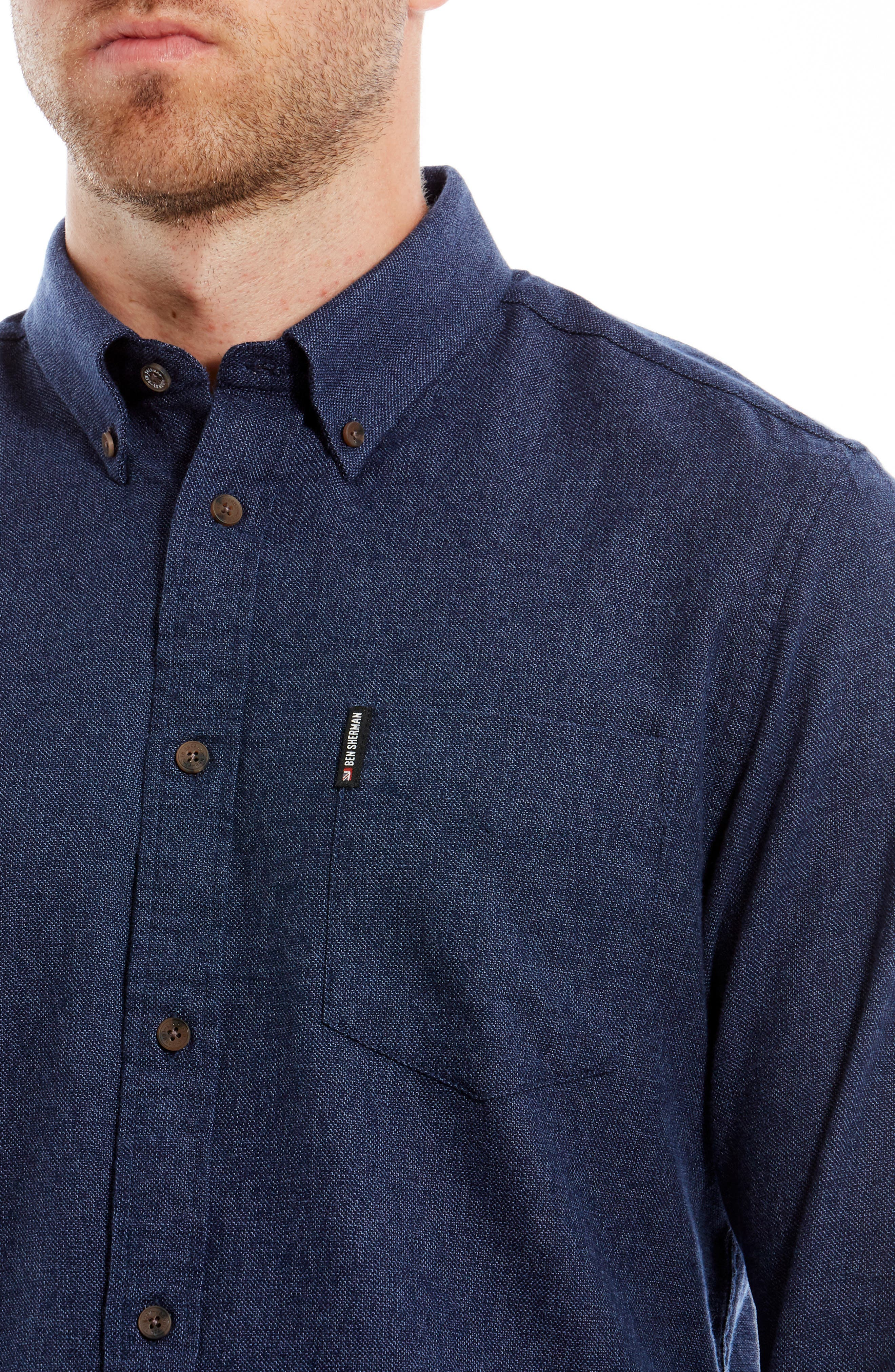 Twisted Brushed Trim Fit Sport Shirt,                             Alternate thumbnail 2, color,                             400