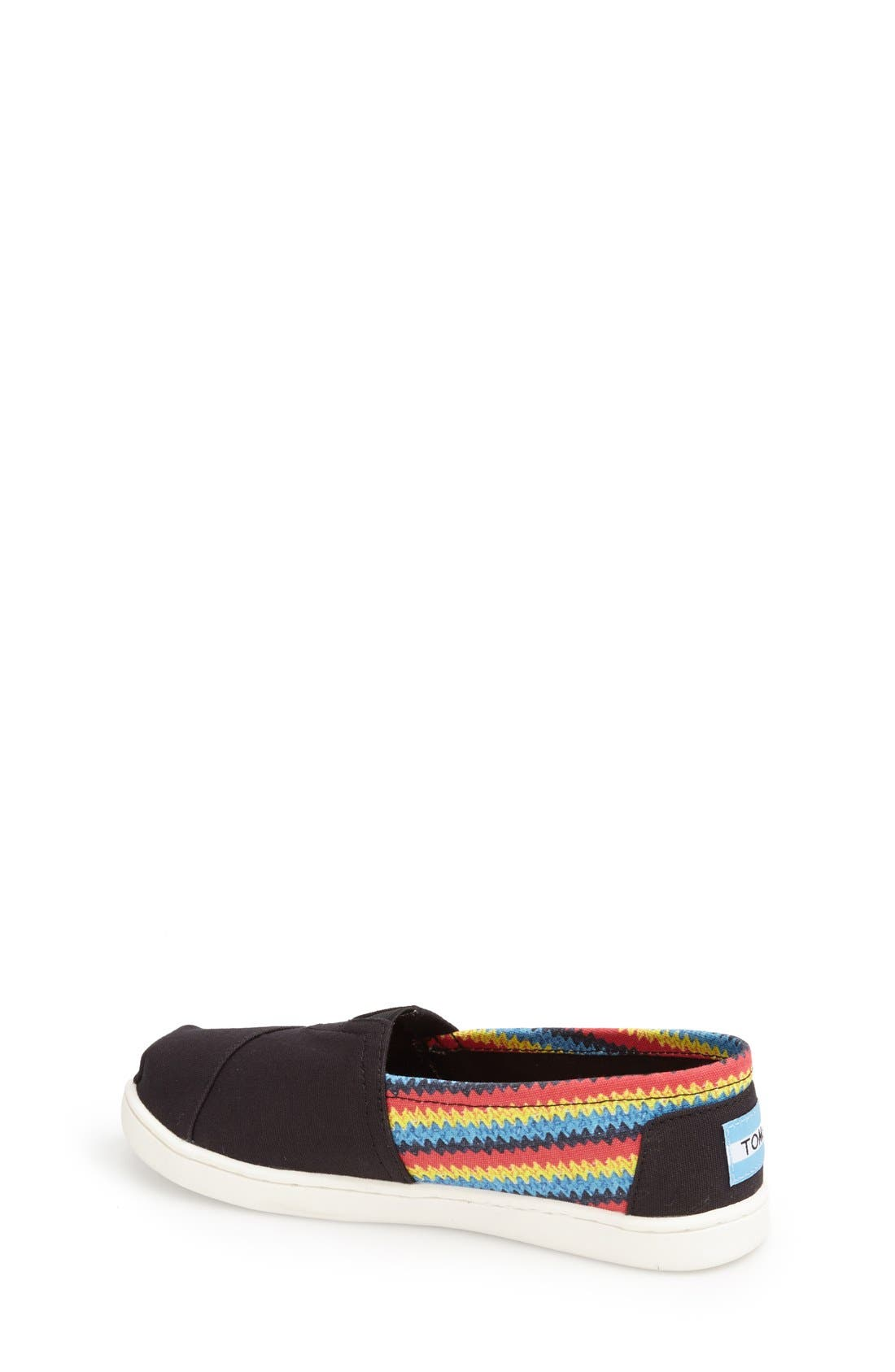 'Classic - Raffia Print' Canvas Slip-On,                             Alternate thumbnail 6, color,                             BLACK