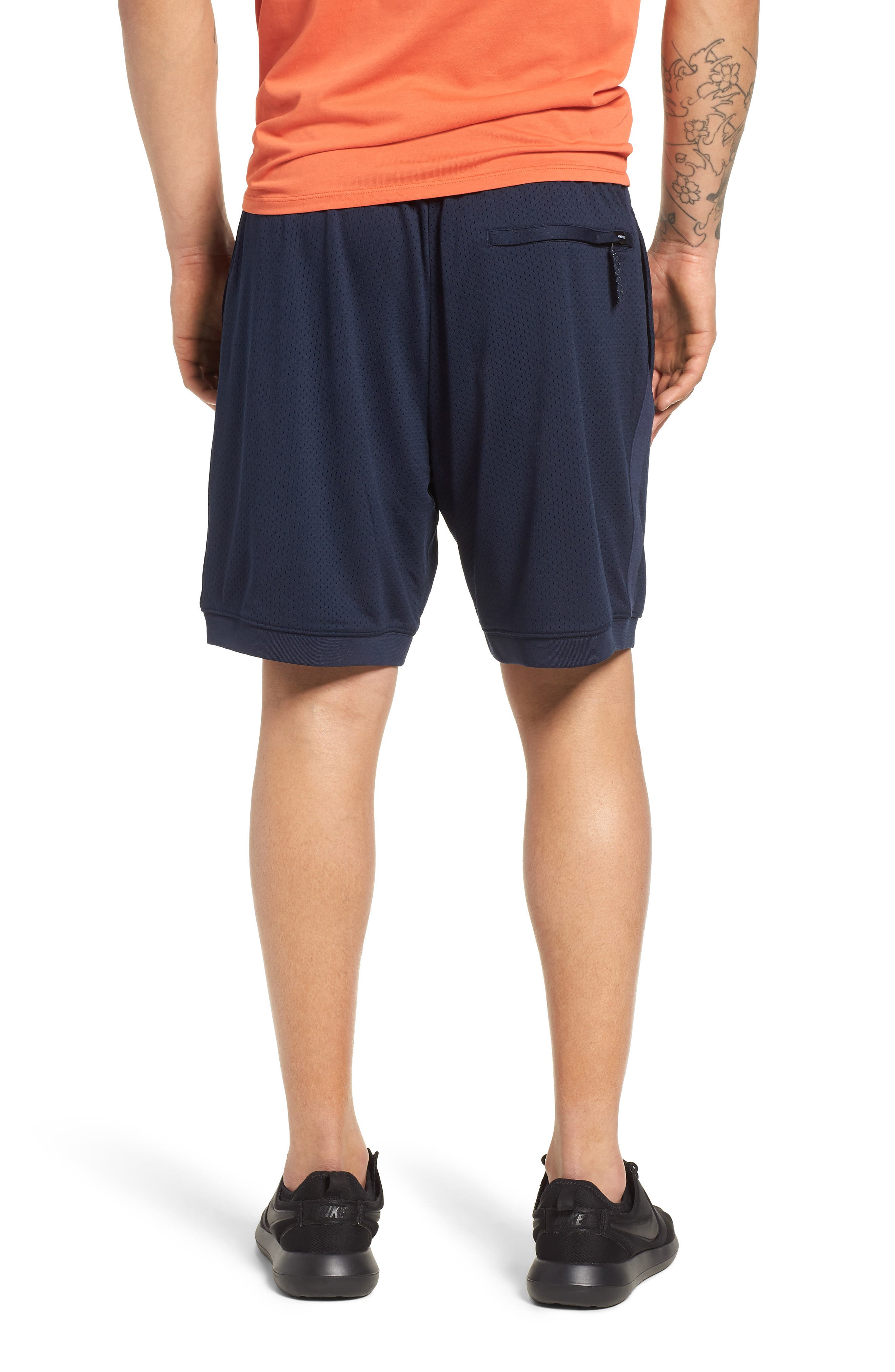 SB Dry Heritage Court Shorts,                             Alternate thumbnail 2, color,                             OBSIDIAN/ WHITE