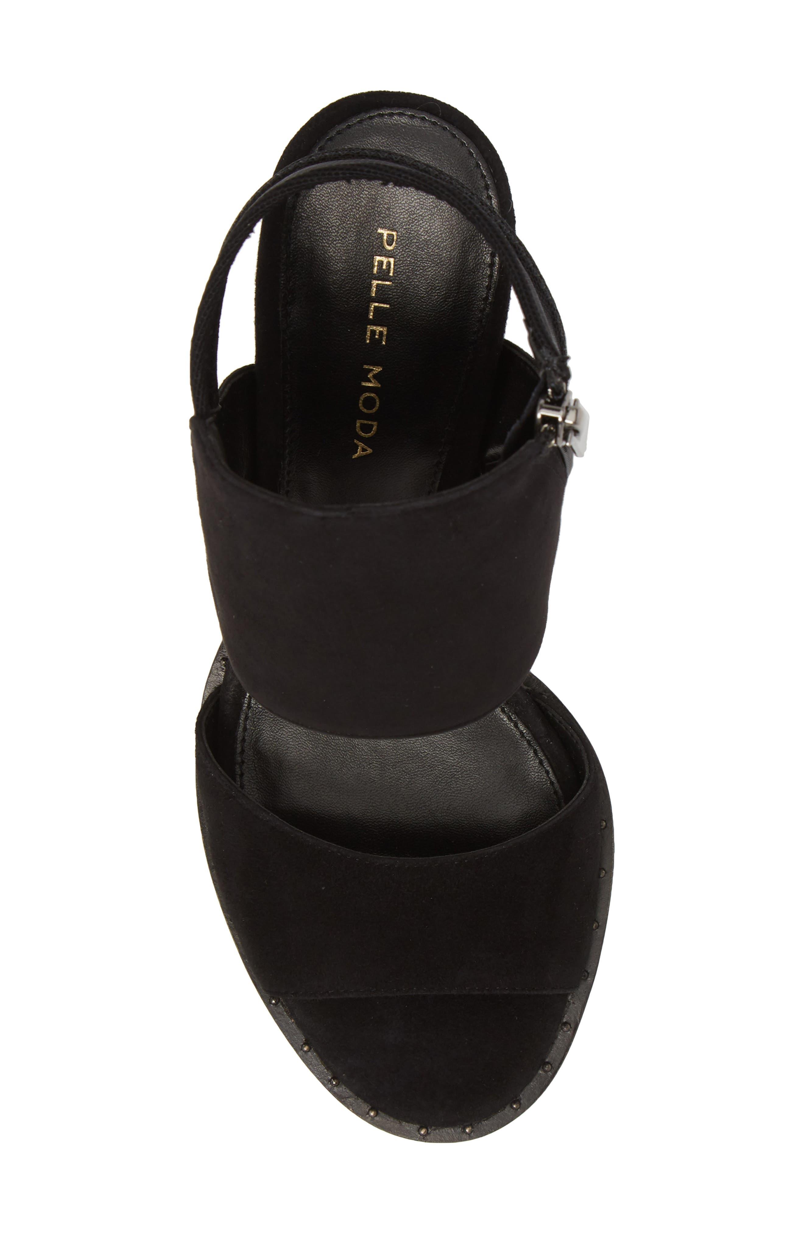 Grey Sandal,                             Alternate thumbnail 5, color,                             BLACK SUEDE