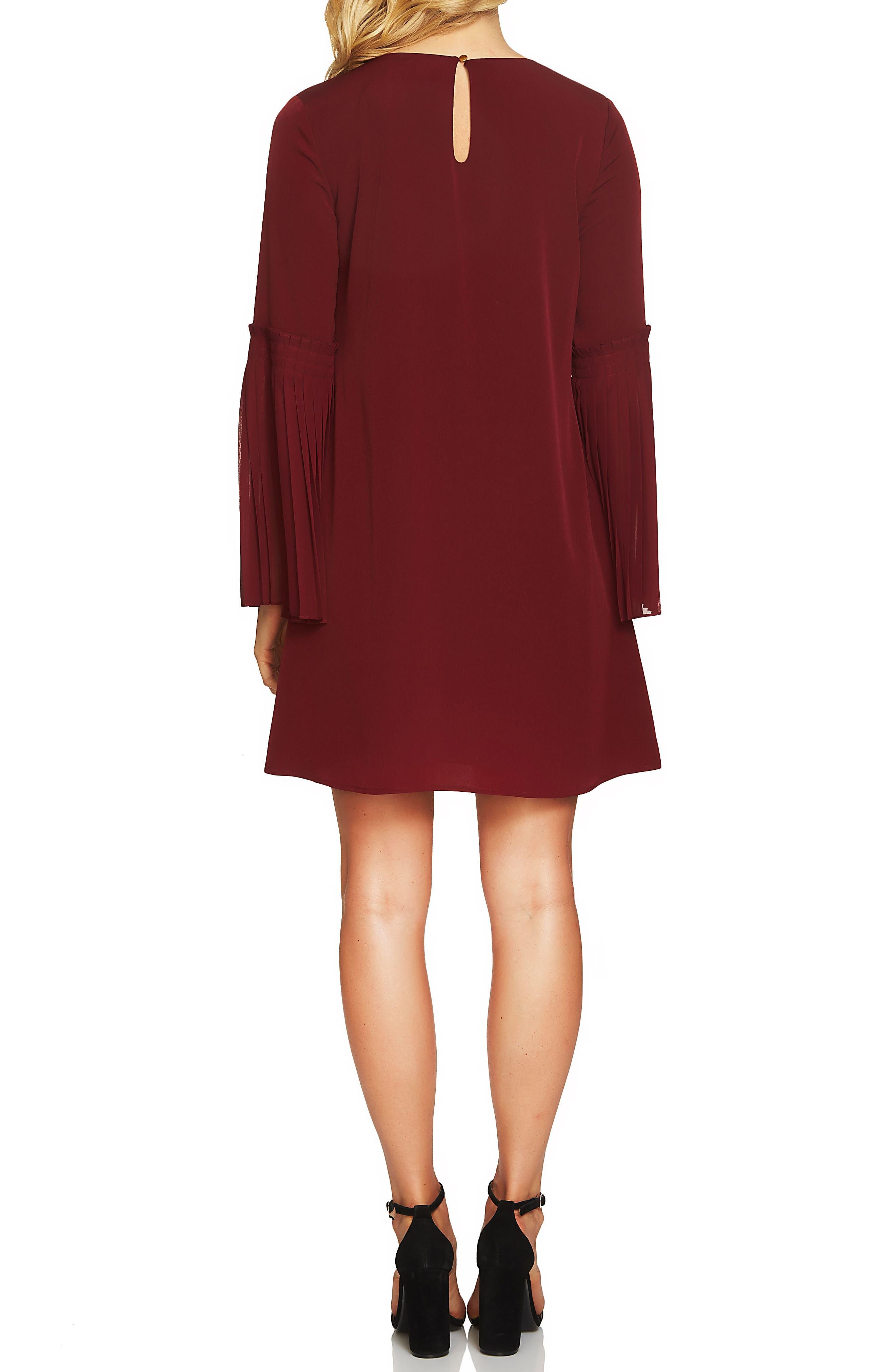 Madeline Bell Sleeve Shift Dress,                             Alternate thumbnail 4, color,