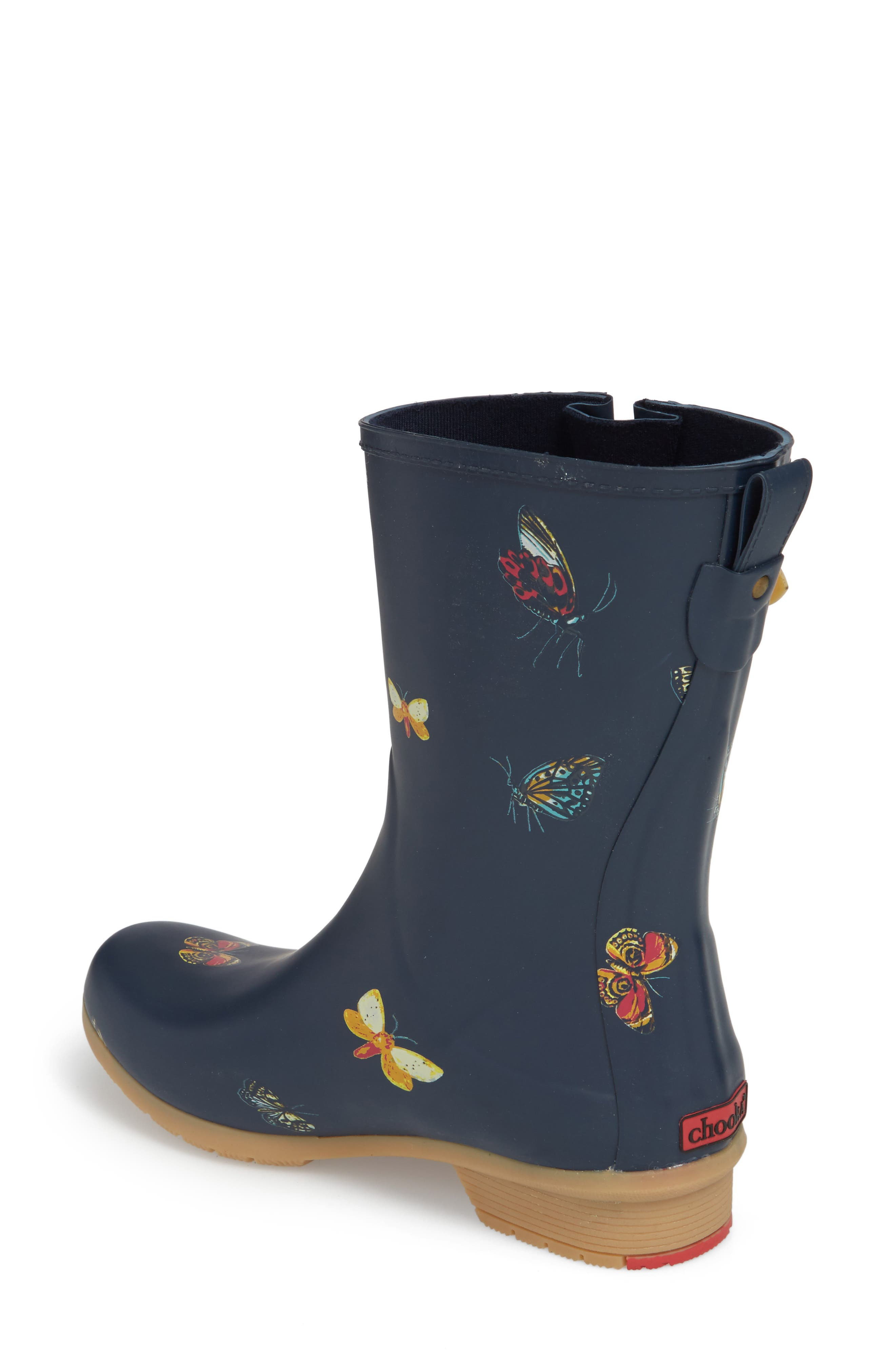 City Solid Mid Height Rain Boot,                             Alternate thumbnail 2, color,                             NAVY