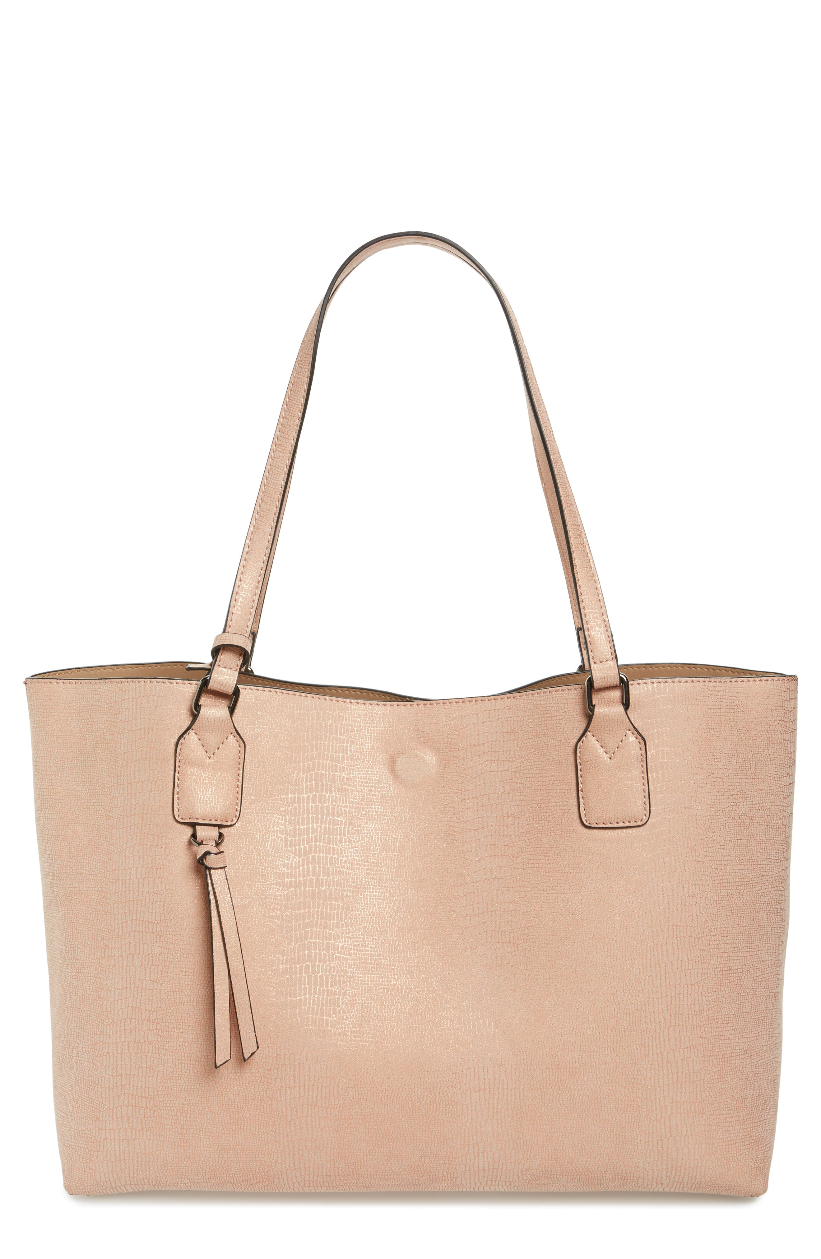Snake Embossed Faux Leather Tote,                             Main thumbnail 2, color,
