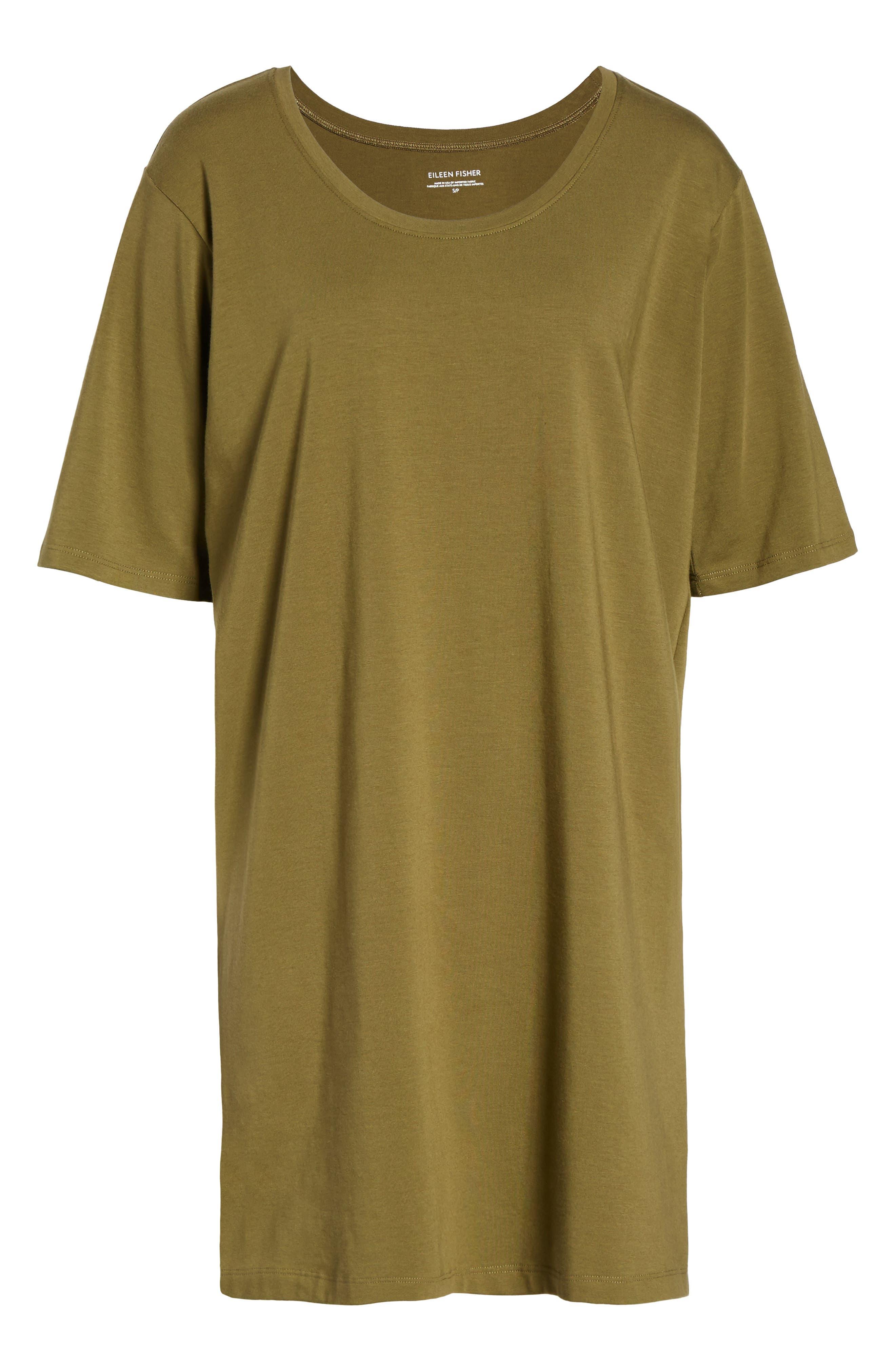 Stretch Organic Cotton Jersey Tunic,                             Alternate thumbnail 36, color,