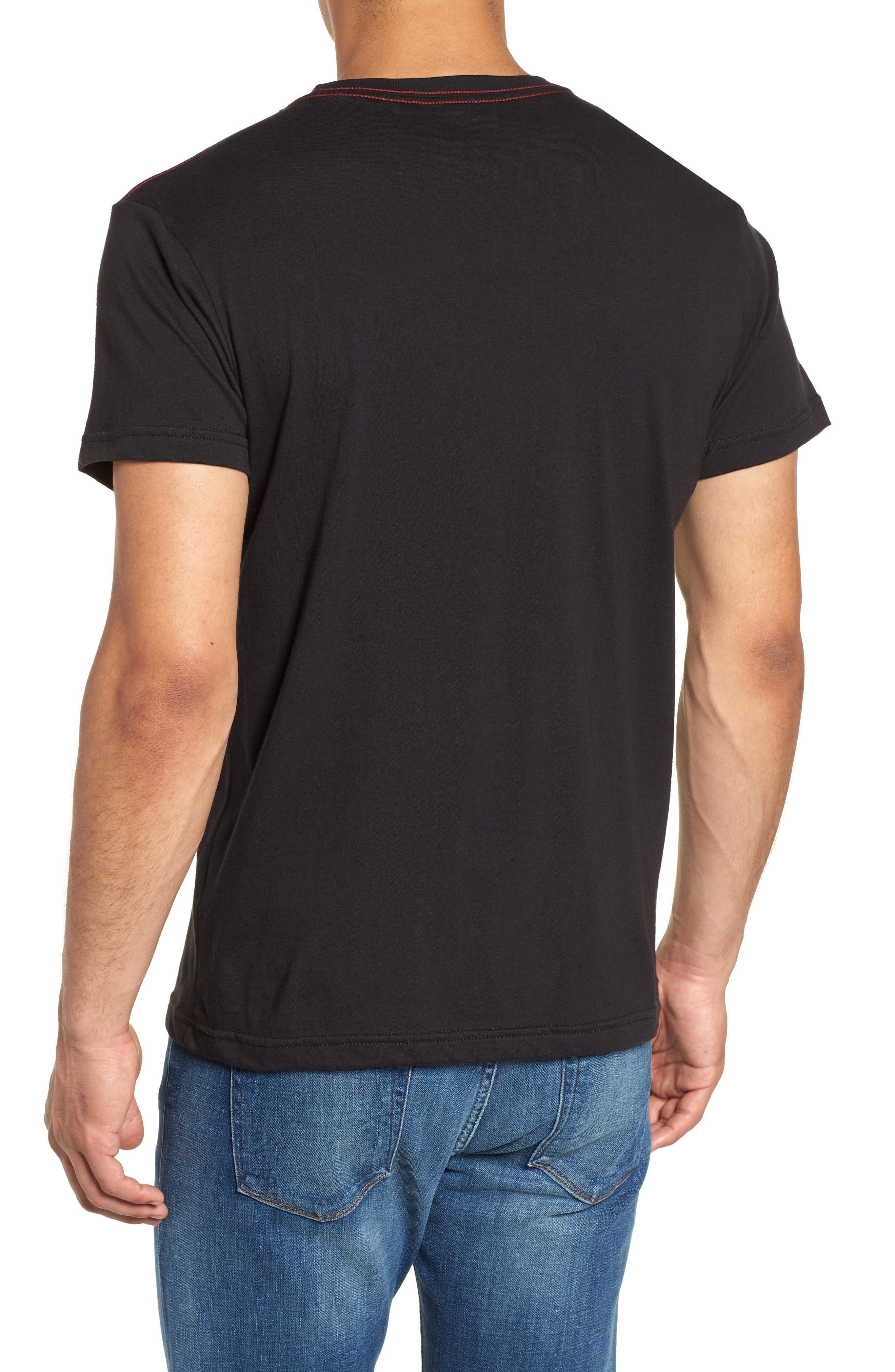 Bruce Pocket T-Shirt,                             Alternate thumbnail 2, color,                             BLACK