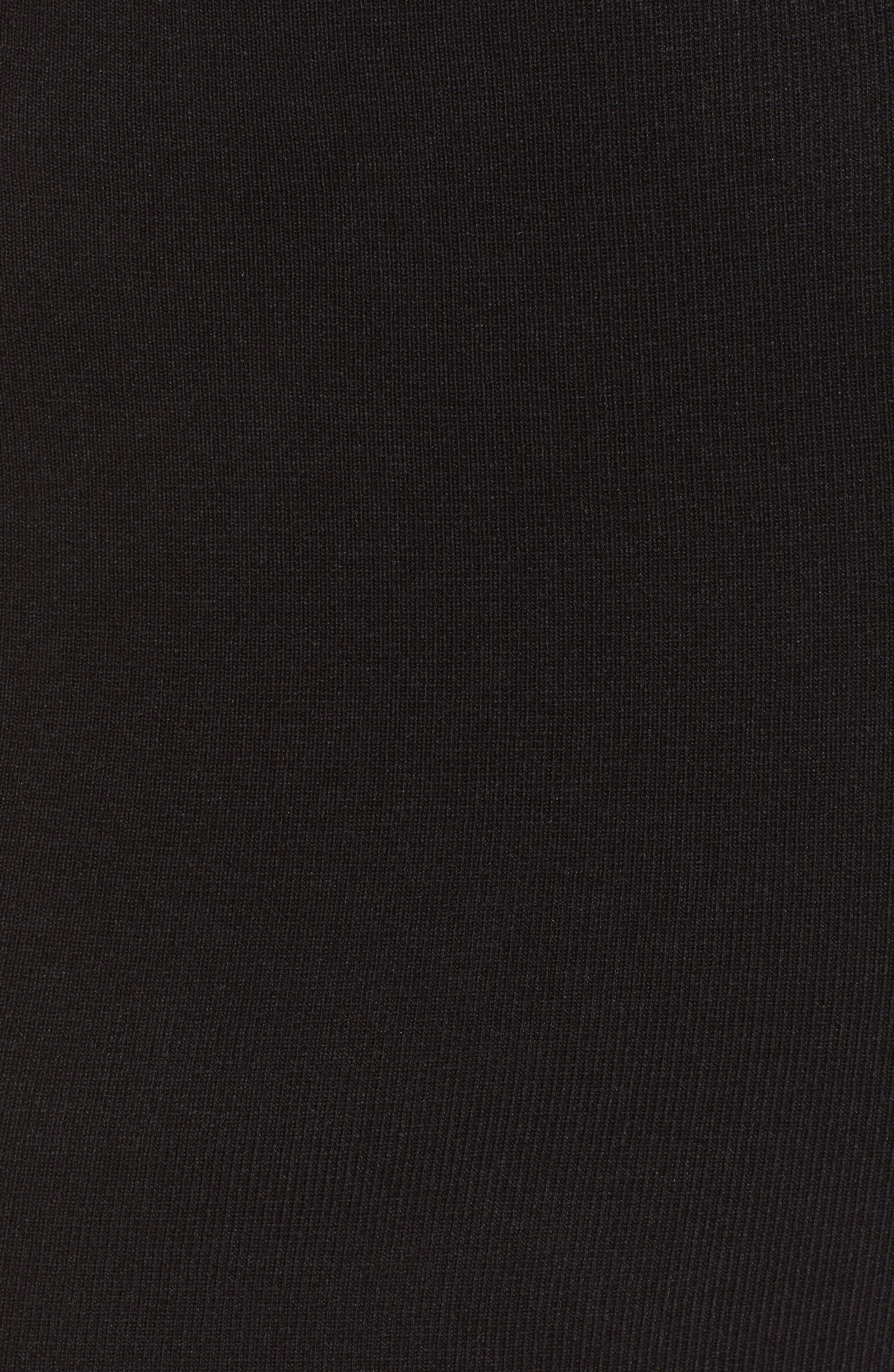Off the Shoulder Sweater Dress,                             Alternate thumbnail 6, color,                             BLACK
