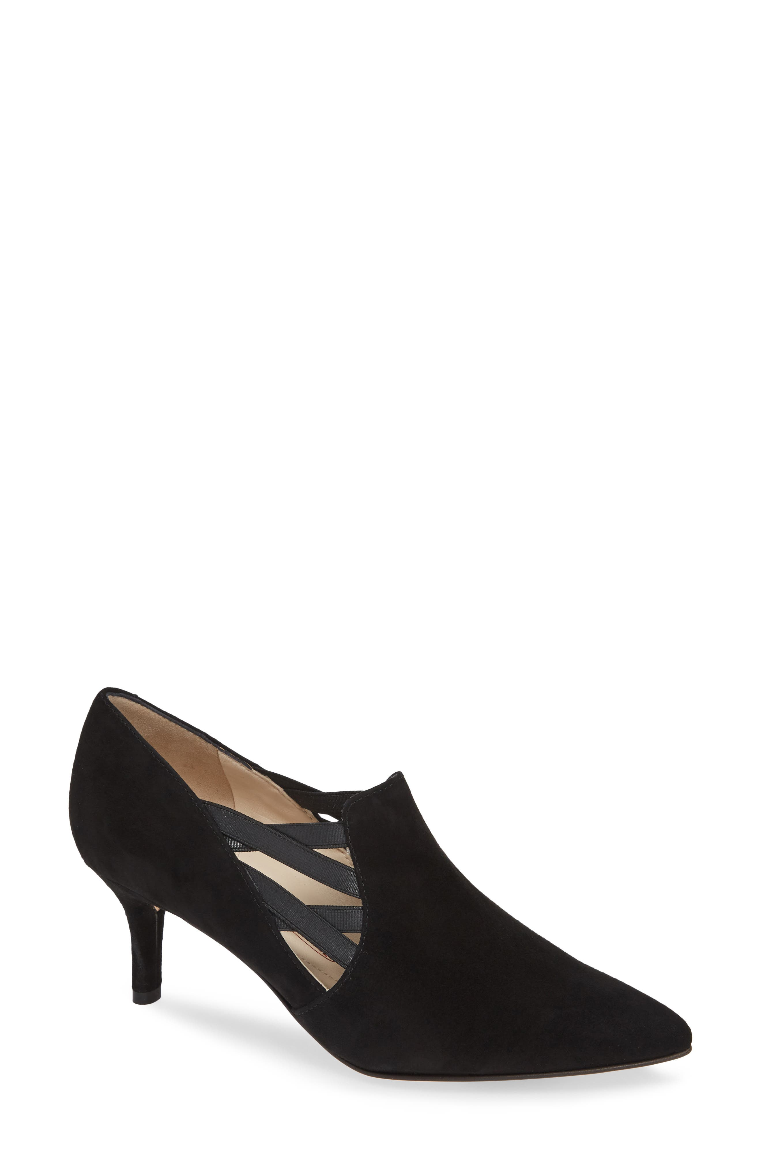AMALFI BY RANGONI Paola Stretch-Side Suede Low-Pump in Black