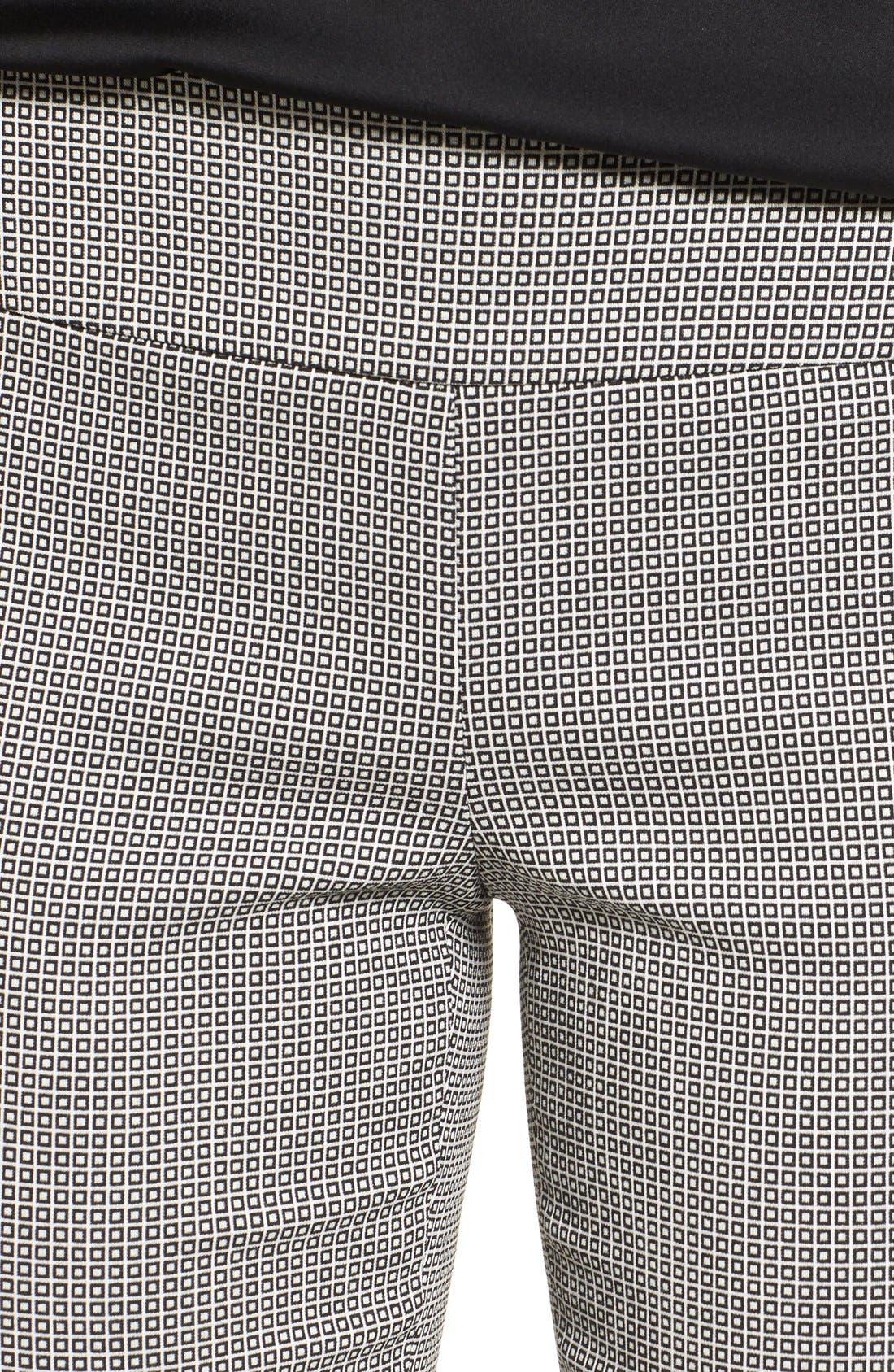 Pixelated Slim Ponte Pants,                             Alternate thumbnail 5, color,                             090
