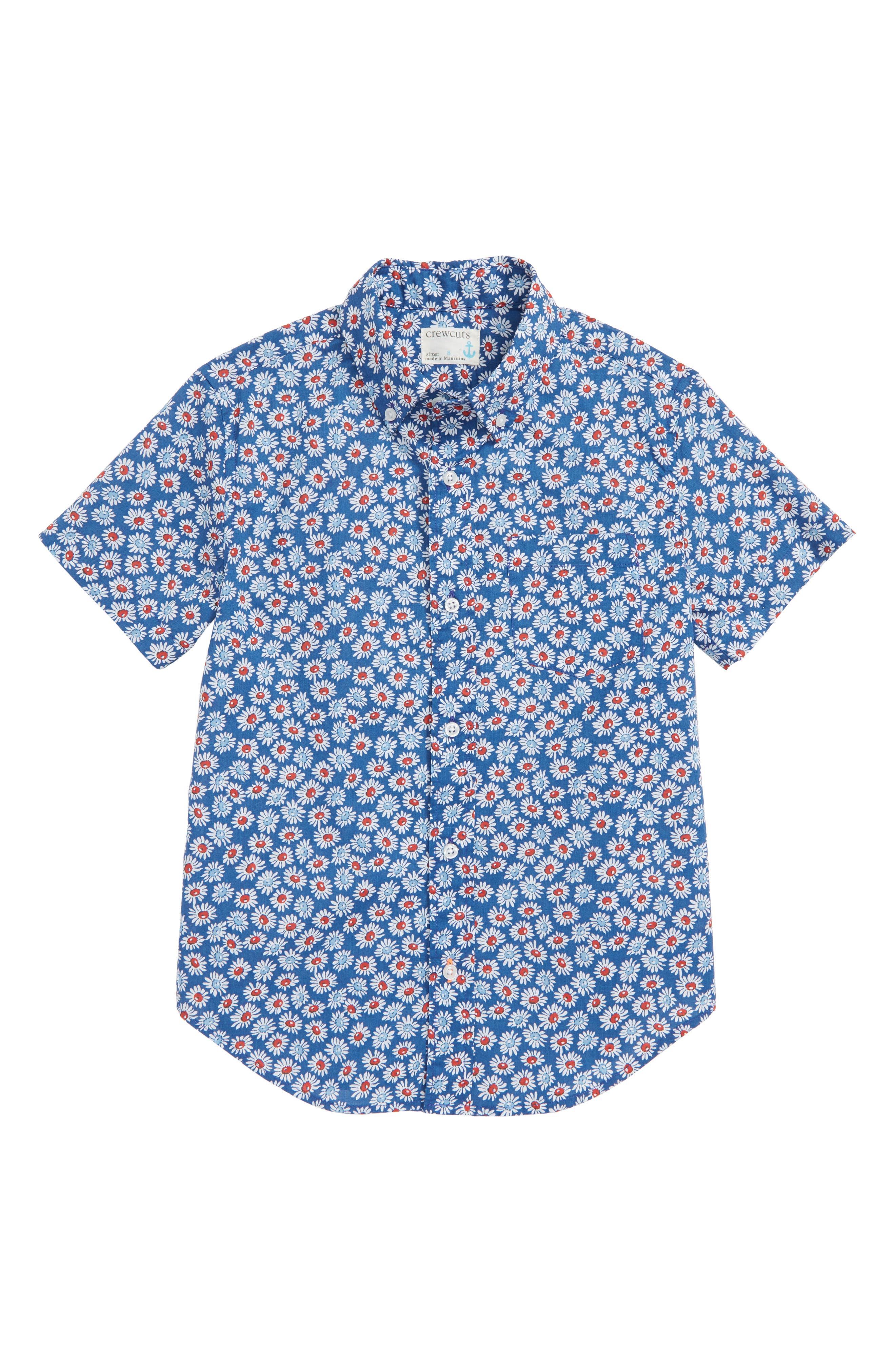 Secret Wash Daisy Shirt,                             Main thumbnail 1, color,                             400