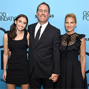 Jessica Seinfeld with husband Jerry Seinfeld and daughter Sascha.