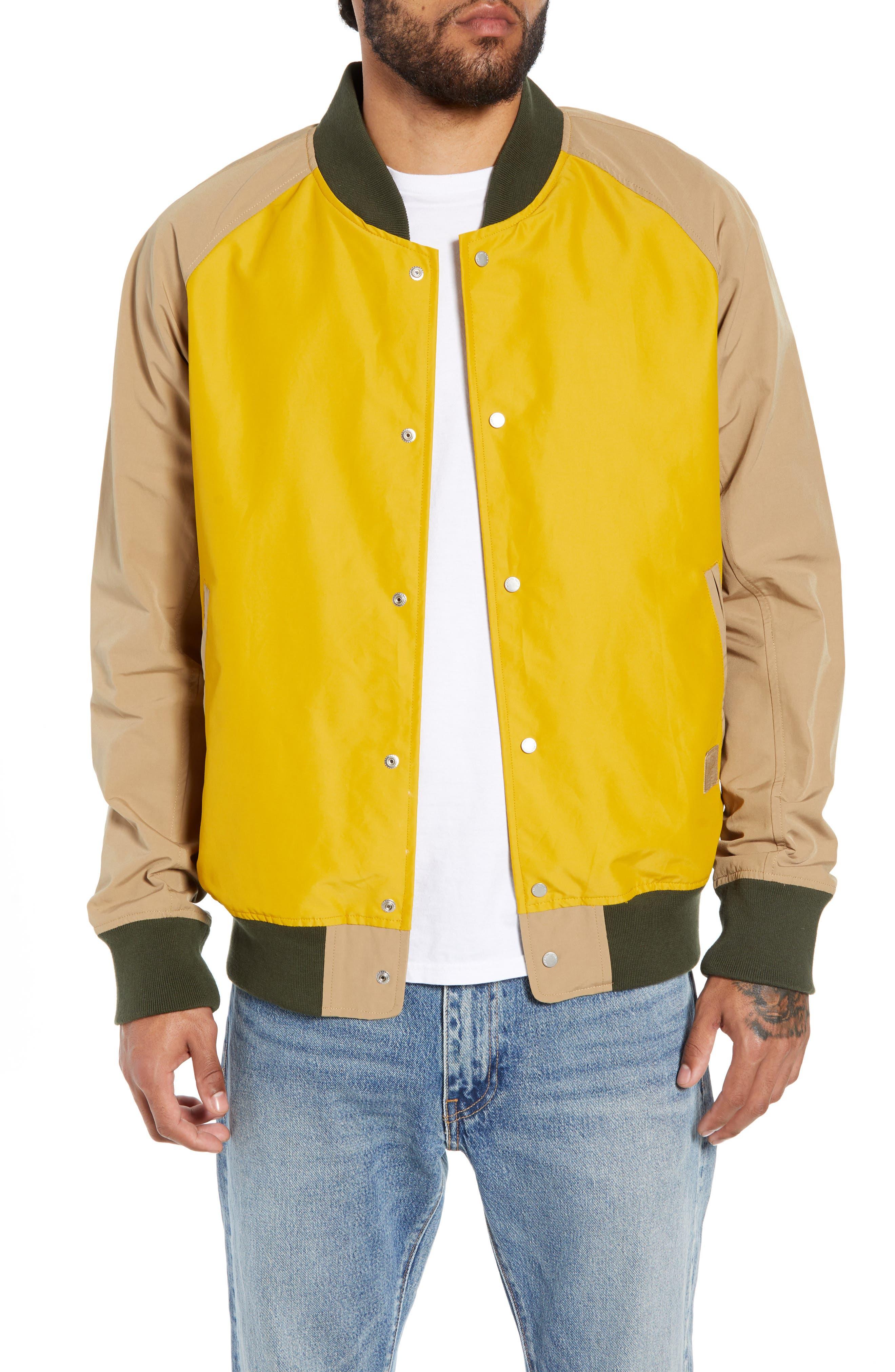 Varsity Jacket,                             Main thumbnail 1, color,                             ARROWWOOD/ KHAKI