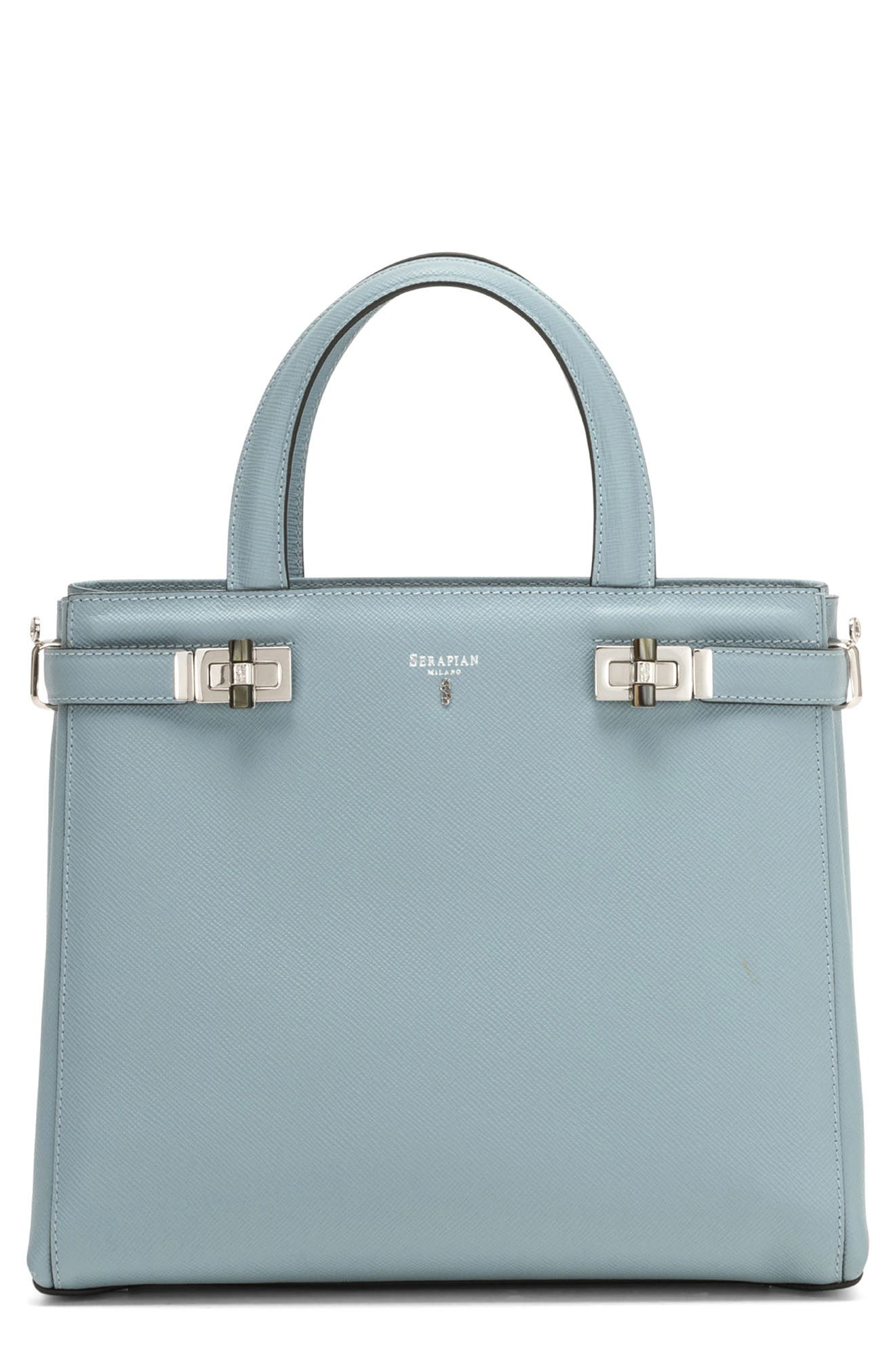 Small Meline Evolution Leather Bag,                             Main thumbnail 4, color,