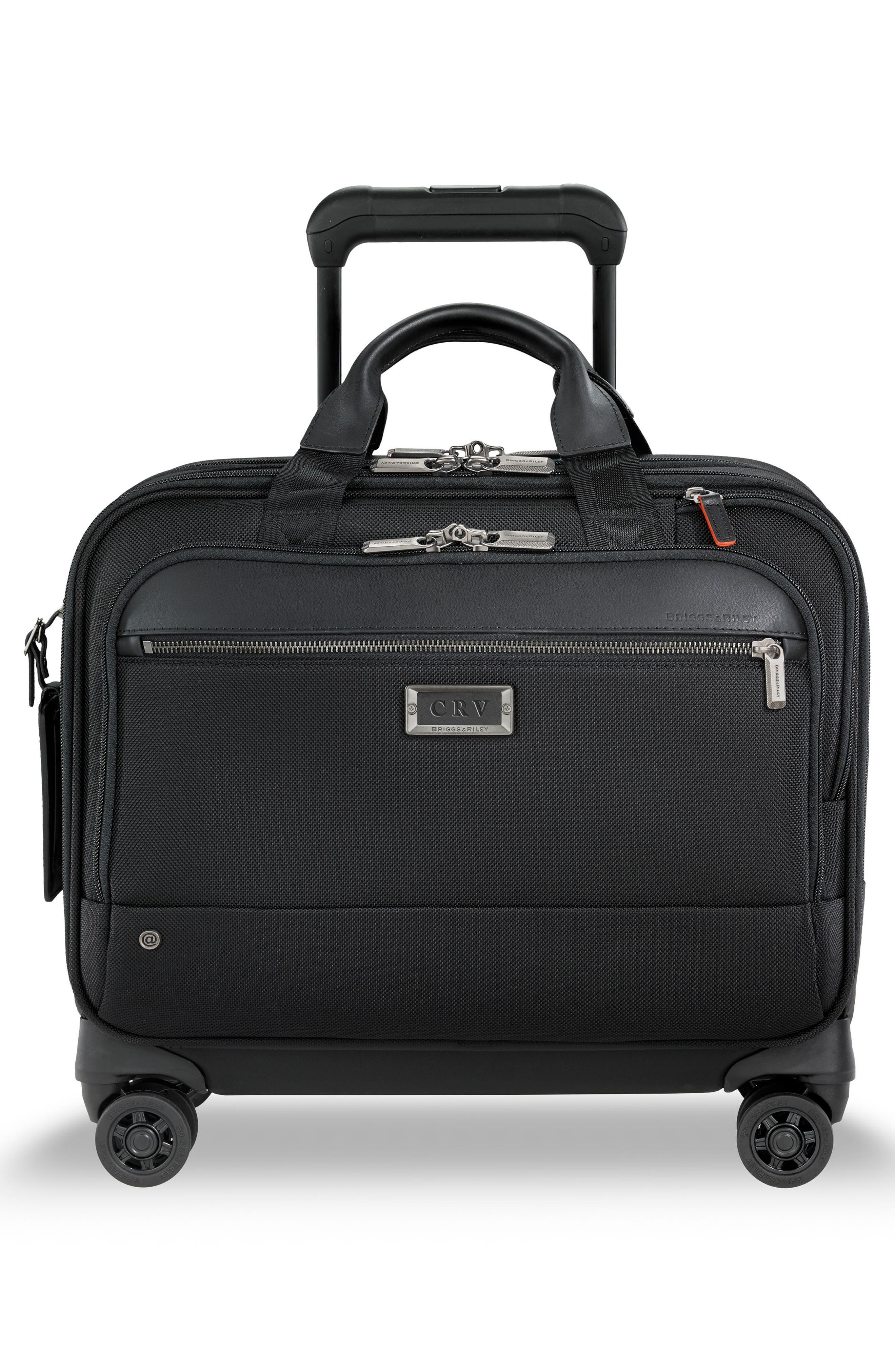 @work Medium Wheeled Briefcase,                             Alternate thumbnail 4, color,                             BLACK