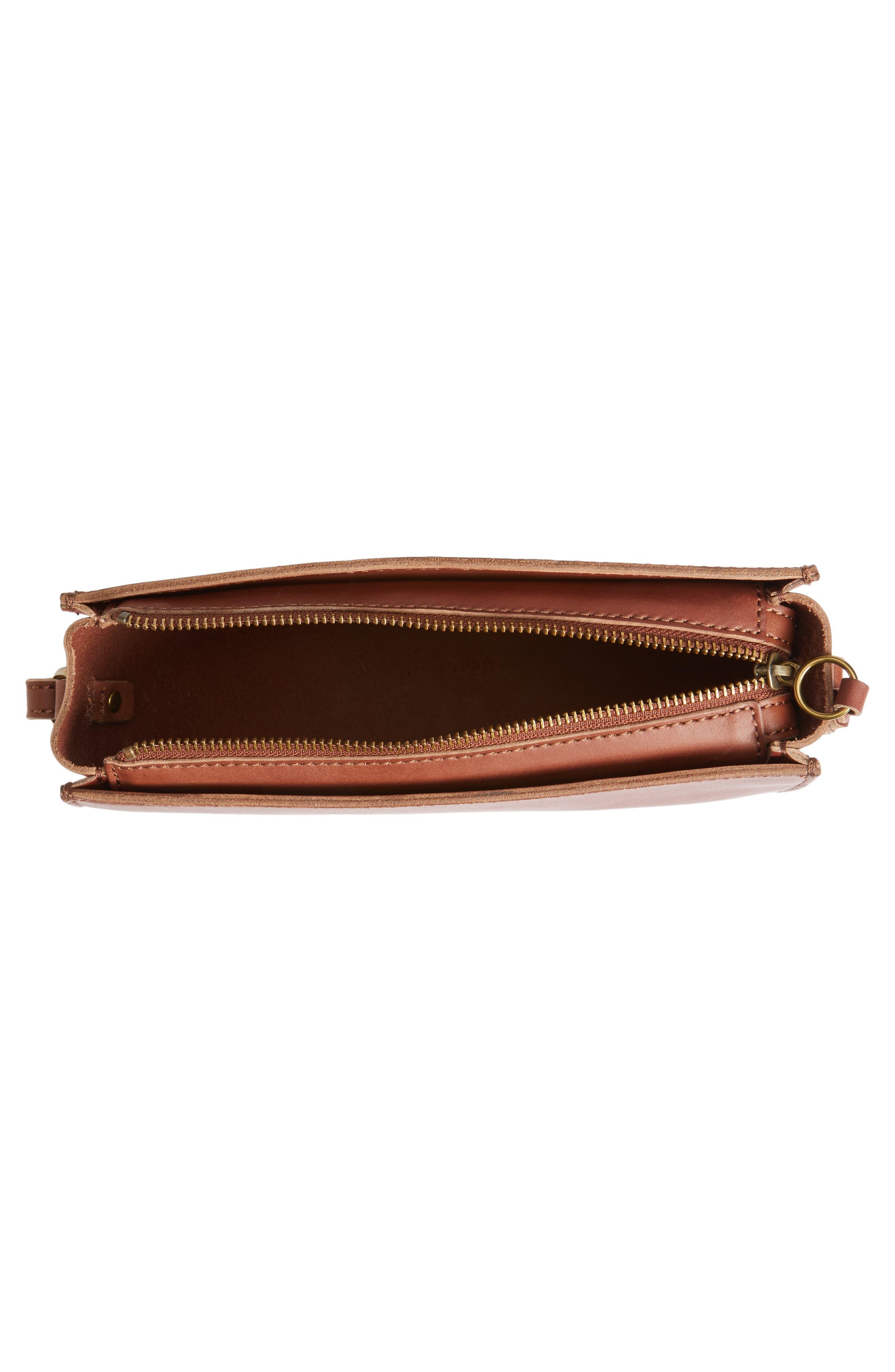 Juniper Vachetta Leather Half Moon Crossbody Bag,                             Alternate thumbnail 12, color,